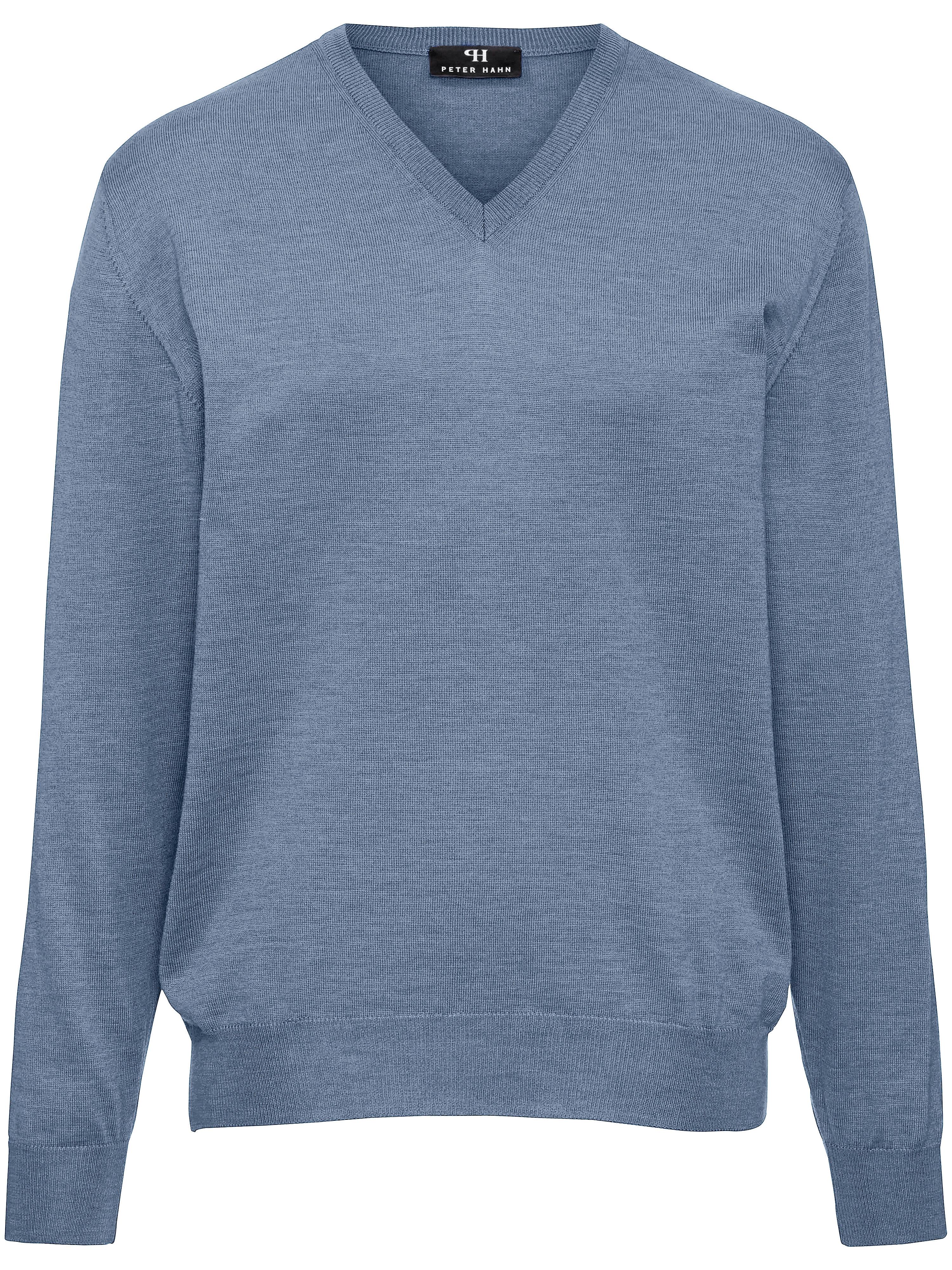 Image of   Strikbluse i 100% ren ny uld Fra Peter Hahn blå