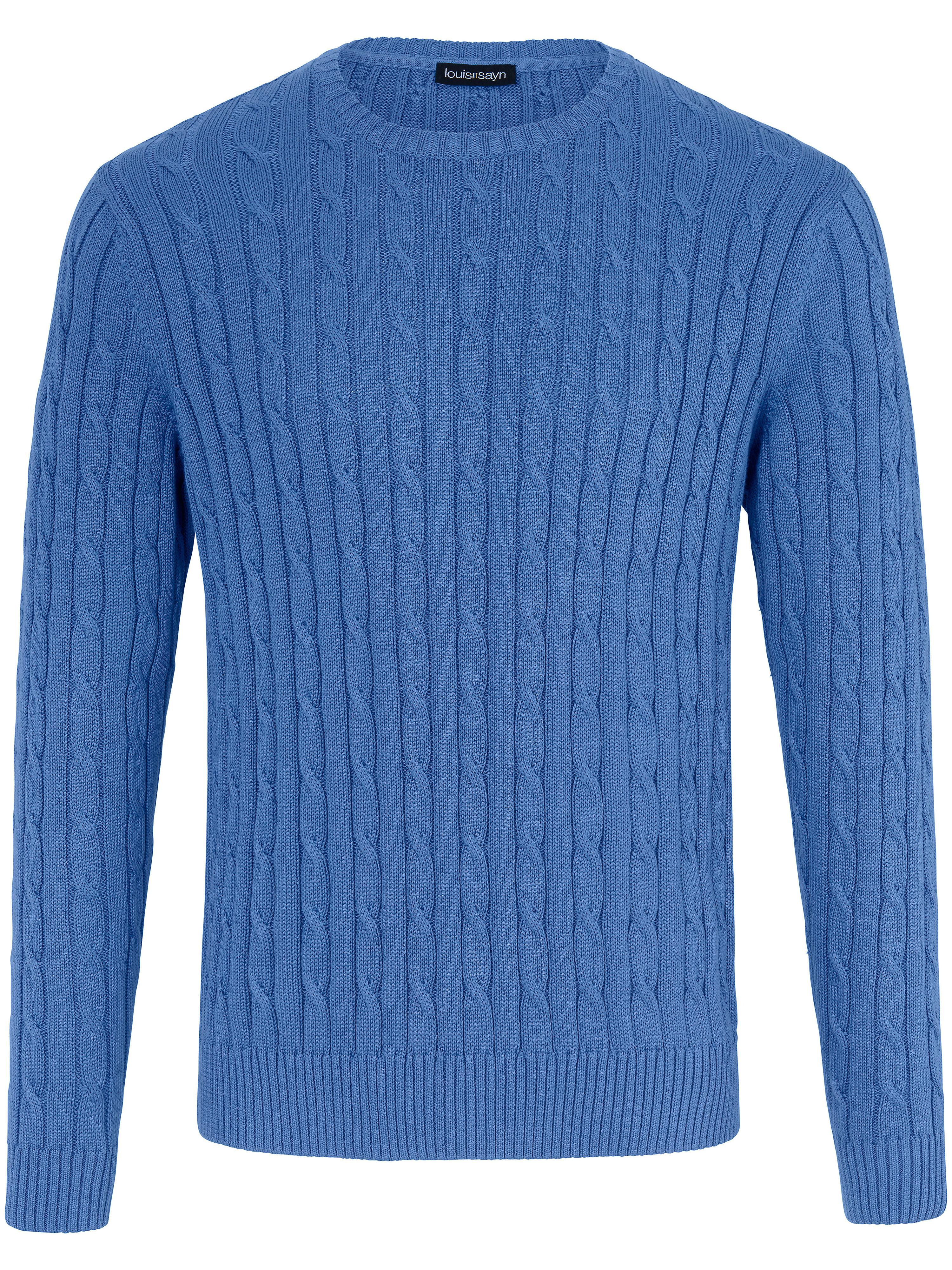 Le pull 100% coton Pima  Louis Sayn bleu taille 52