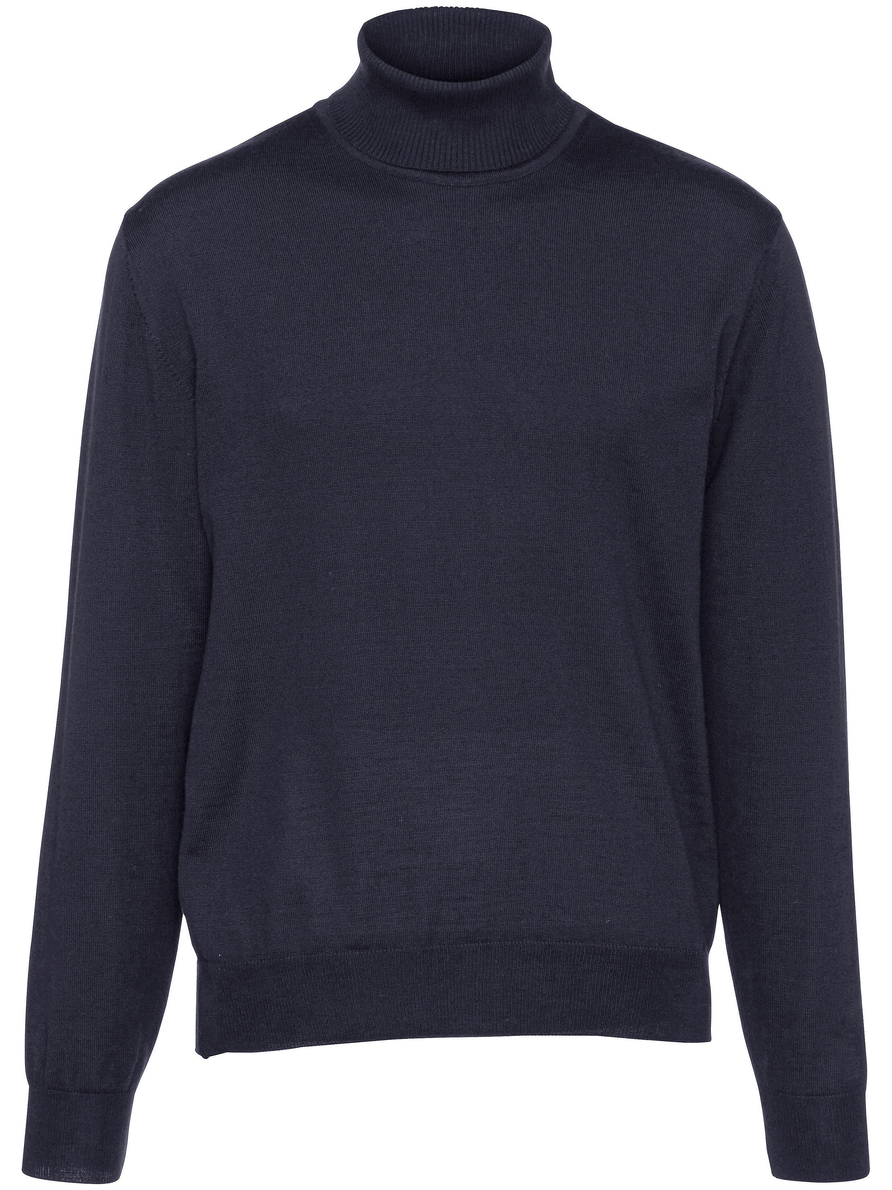 Image of   Rullekravebluse i 100% ren ny uld Fra Peter Hahn blå