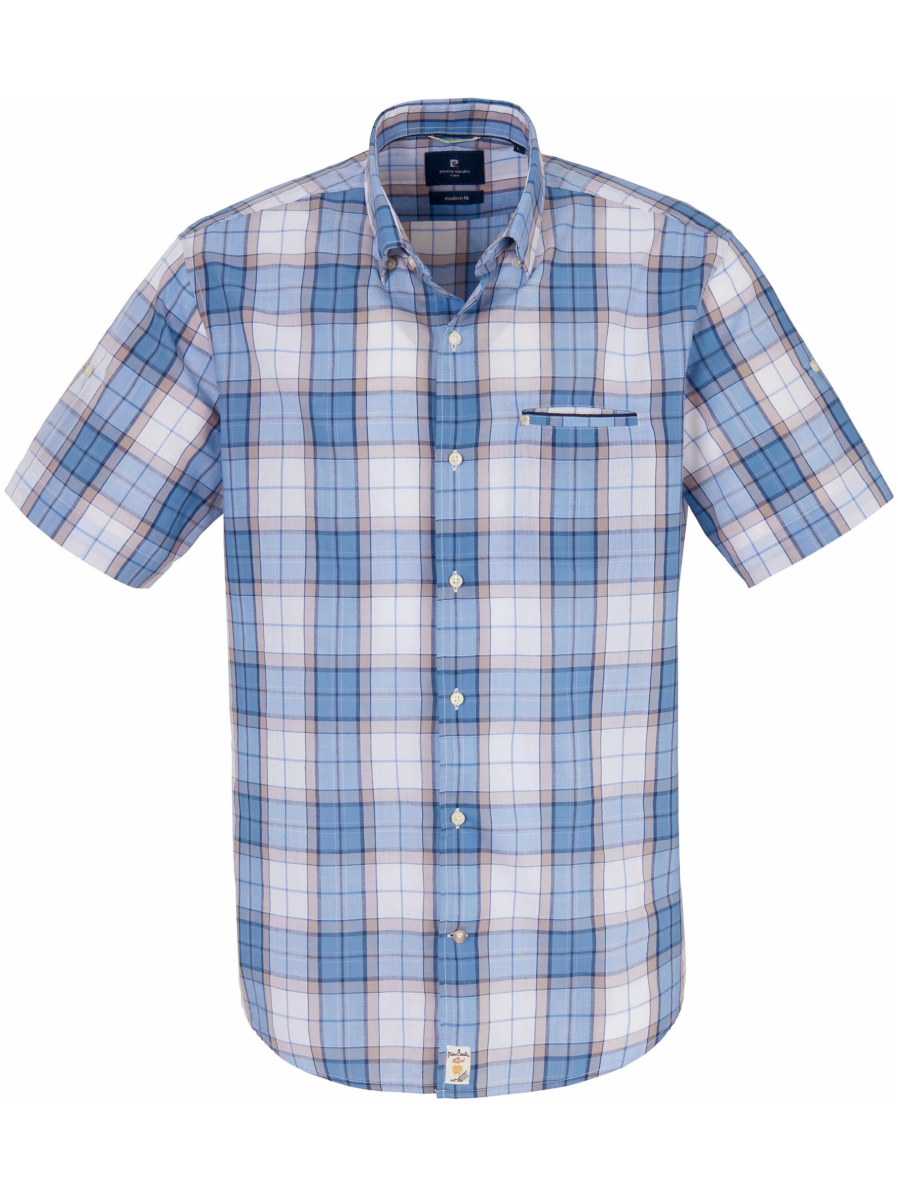 La chemise 100% coton manches courtes  Pierre Cardin bleu taille 45/46