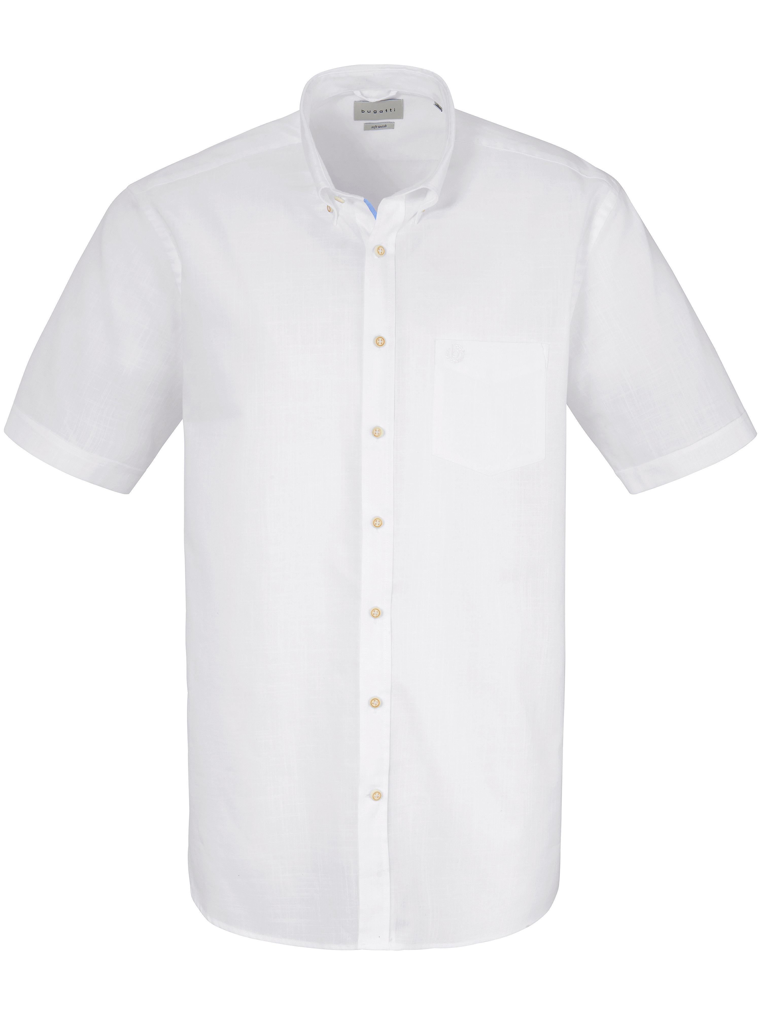 La chemisette 100% coton  Bugatti blanc