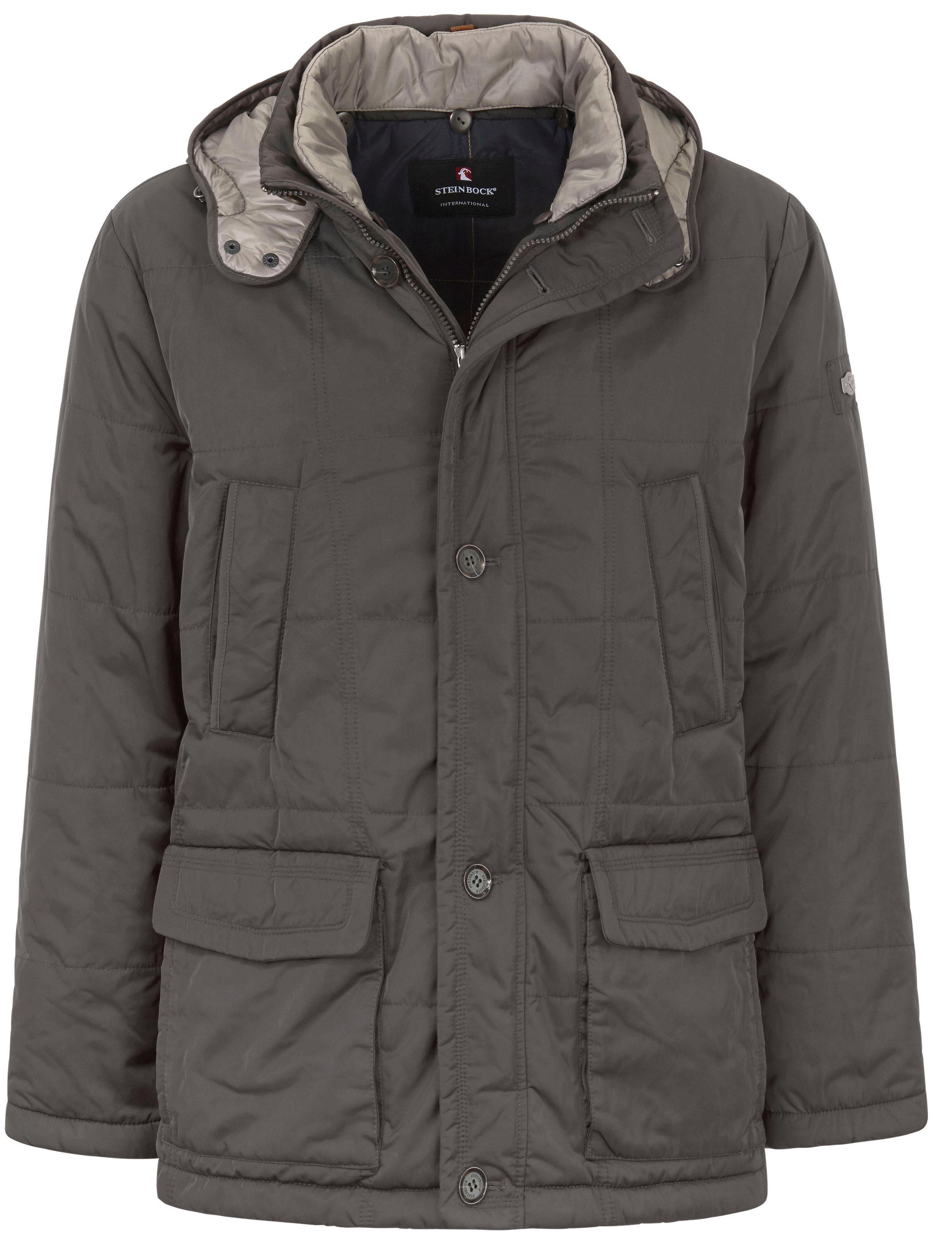 Image of   Quiltet jakke aftagelig hætte Fra Steinbock grå