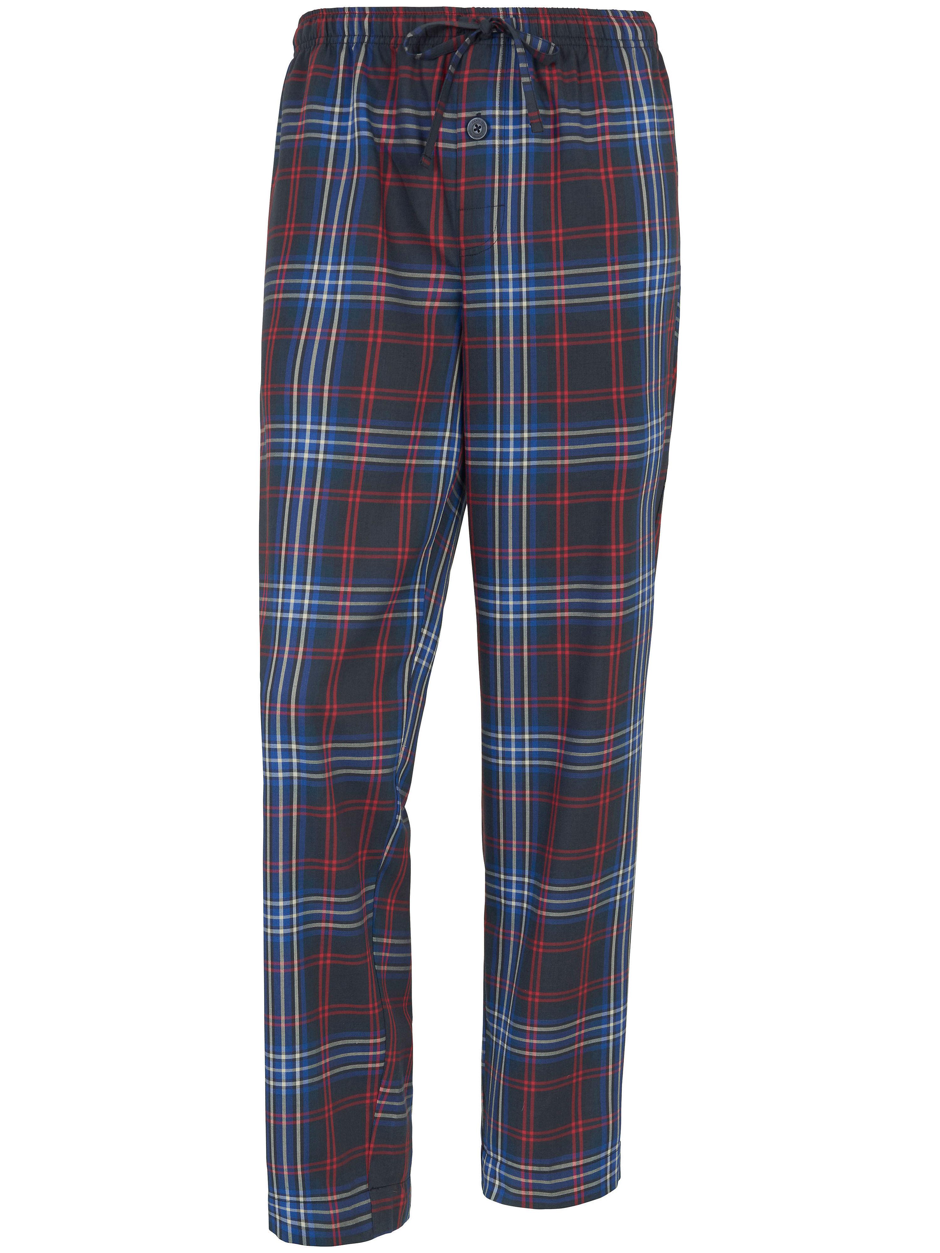 Lange geweven pyjamabroek Van Jockey blauw