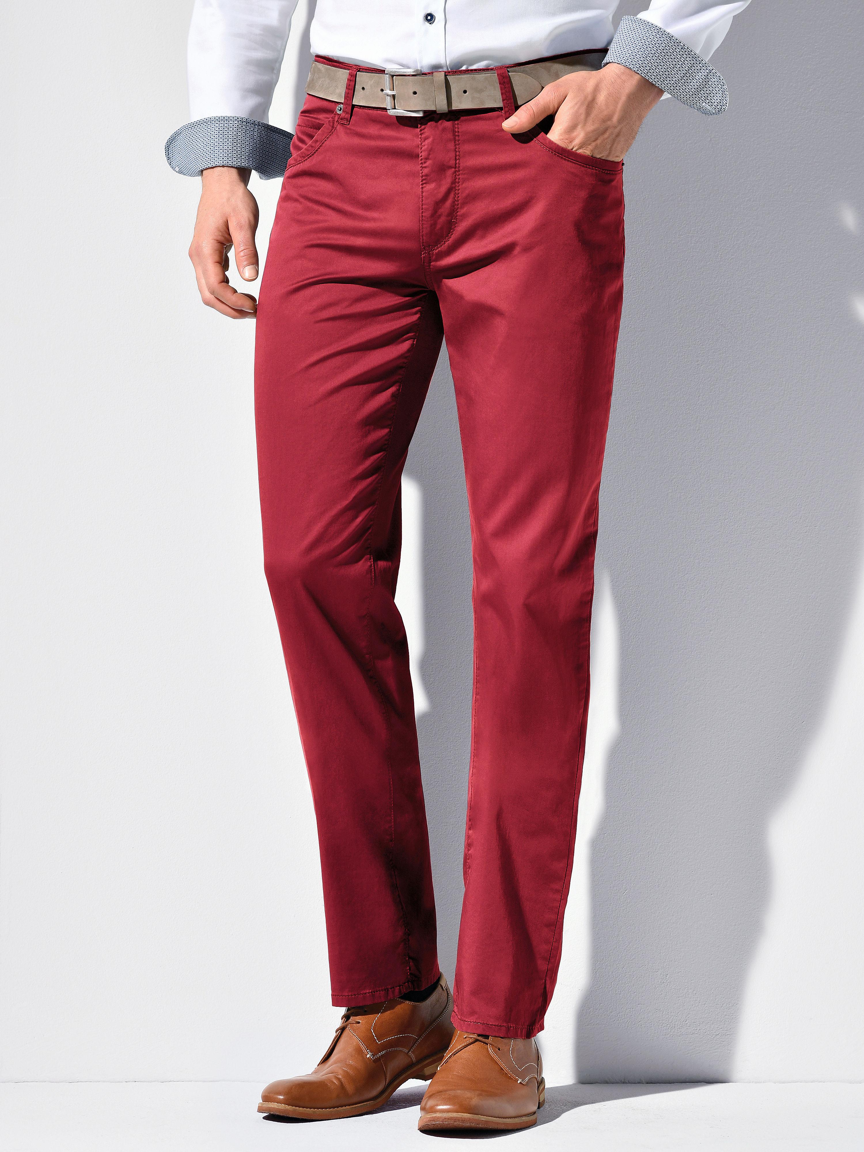 Image of   Bukser Comfortable Fit model Cadiz Fra Brax Feel Good rød