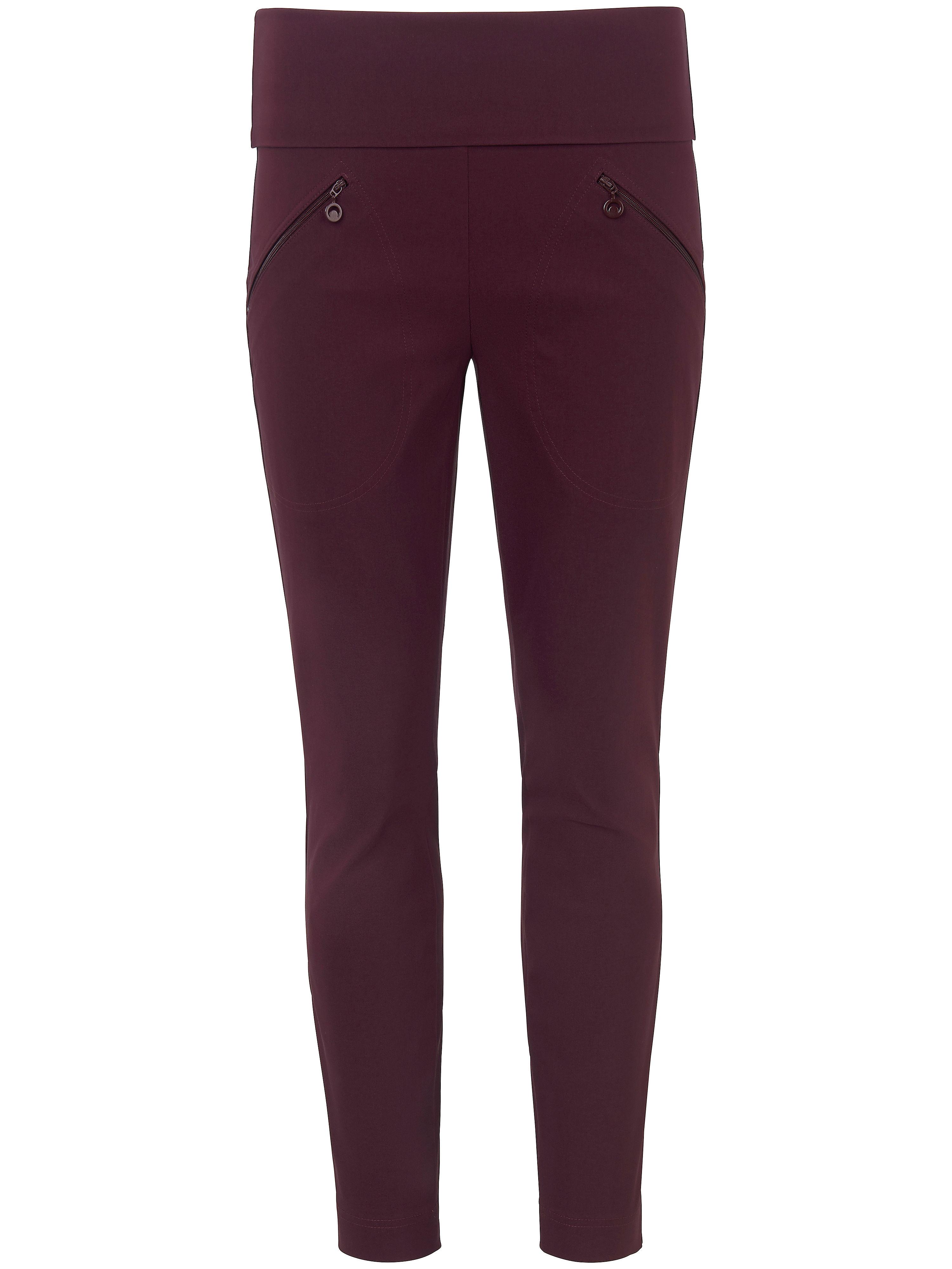 Le pantalon longueur chevilles coupe Sylvia  Peter Hahn rouge taille 46