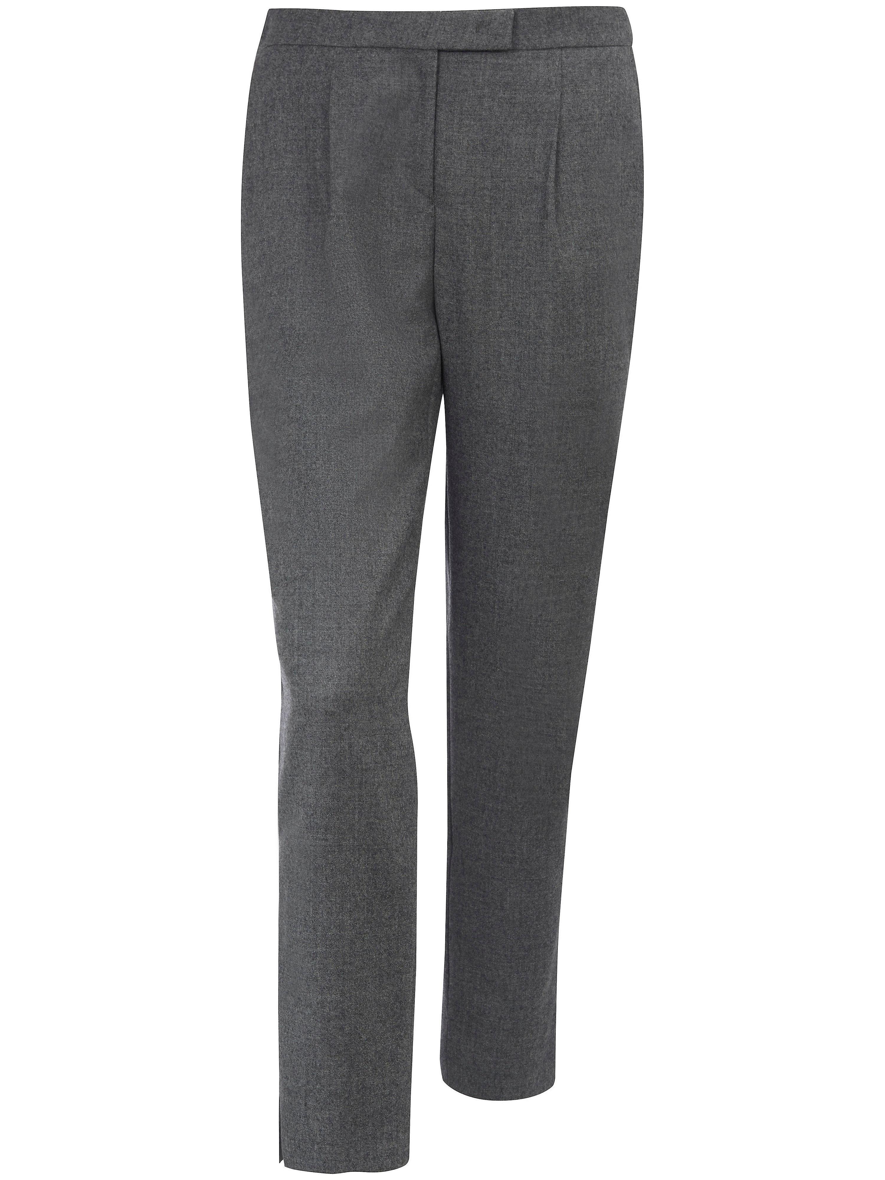 Le pantalon 7/8 en pure laine vierge  St. Emile gris
