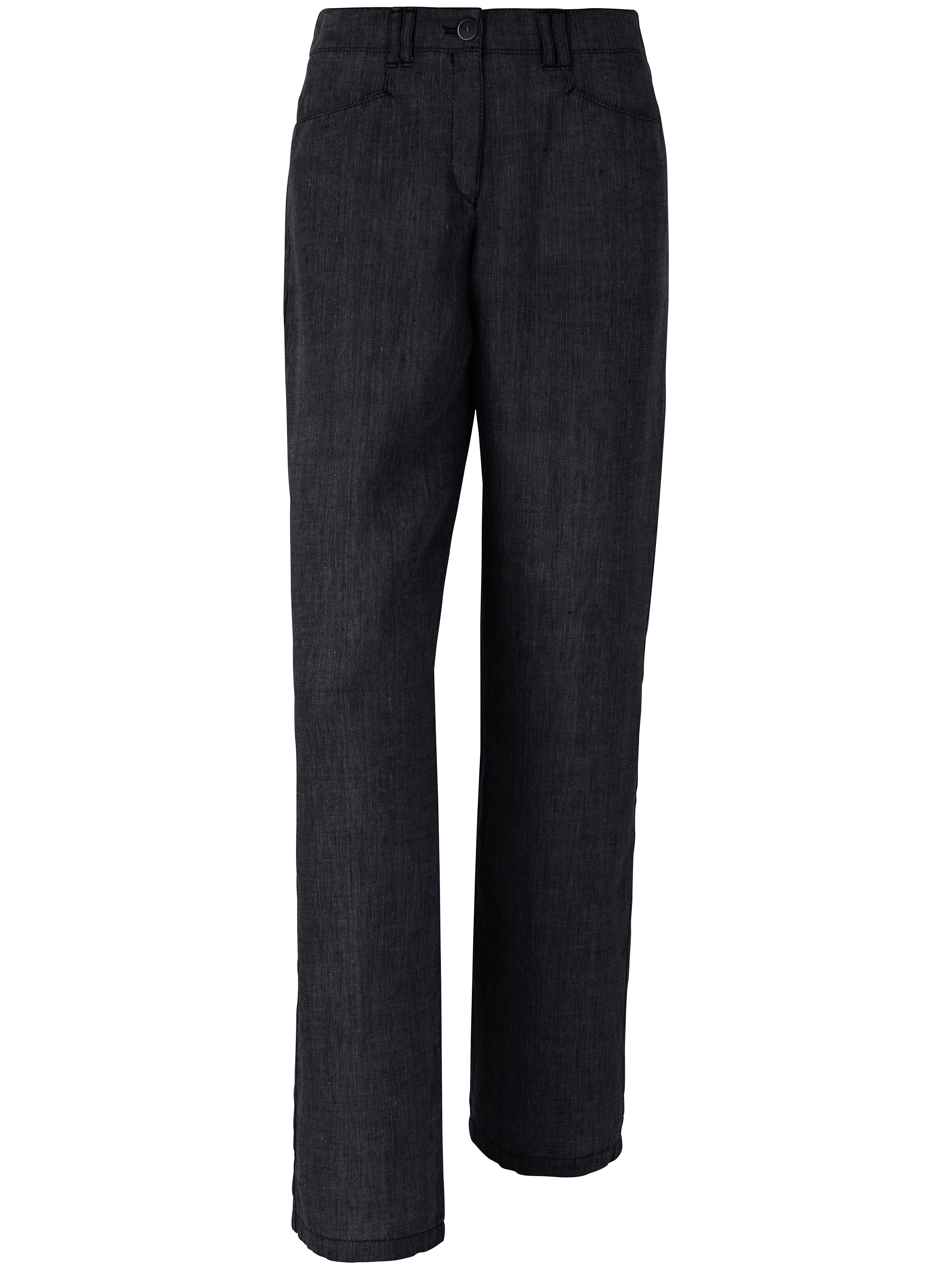Le pantalon Feminine Fit pur lin, modèle FARINA  Brax Feel Good noir taille 40