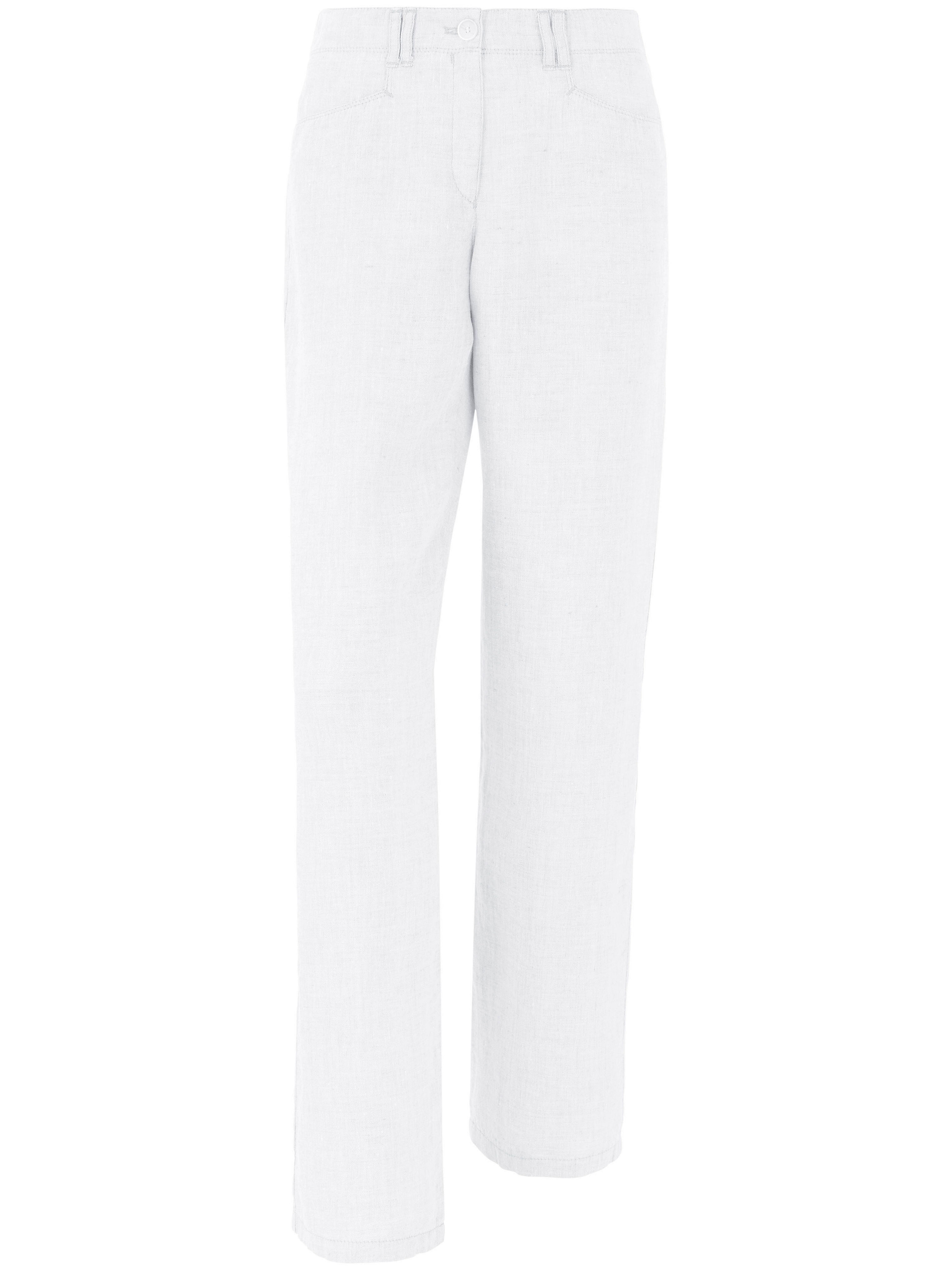 Le pantalon pur lin Brax Feel Good blanc taille 23