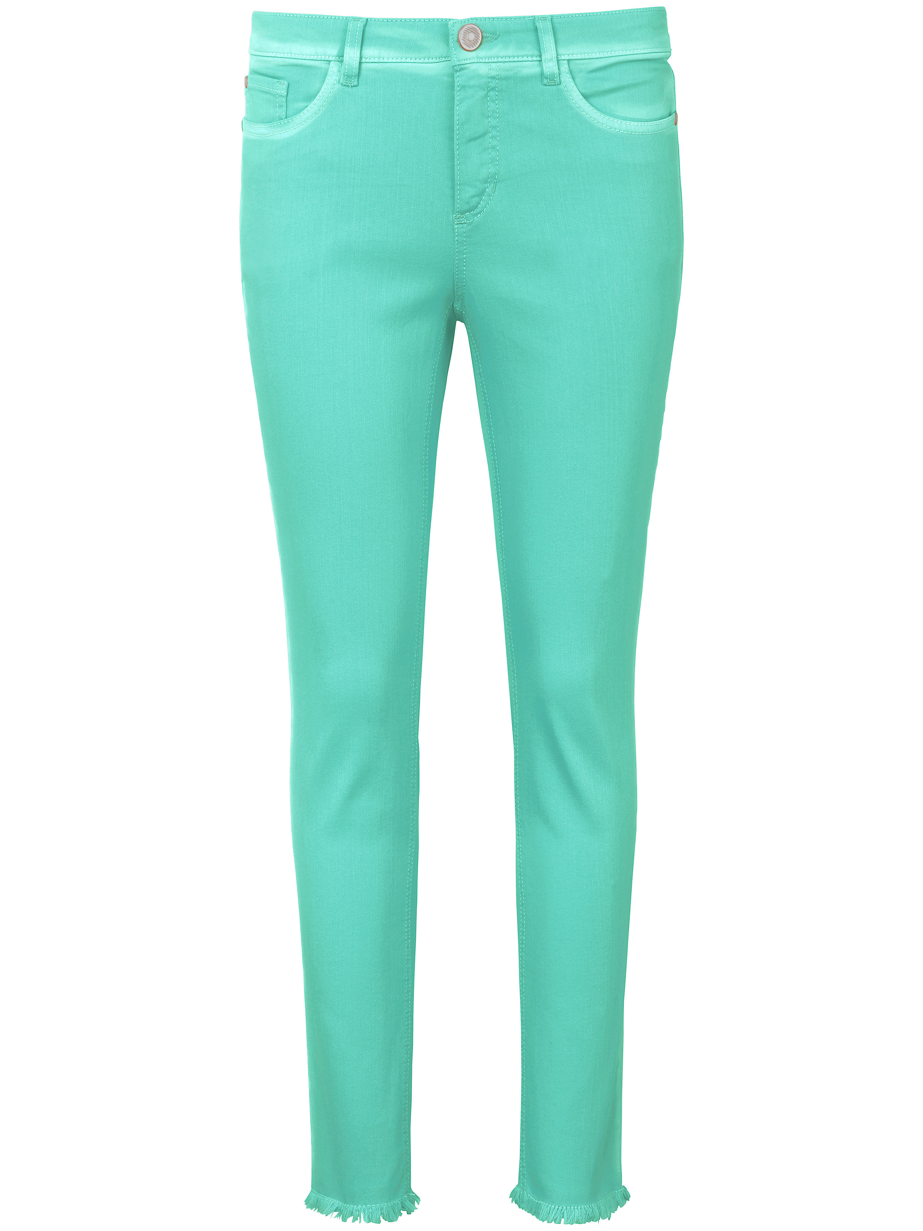 Le jean longueur chevilles coupe Barbara  Peter Hahn turquoise taille 21