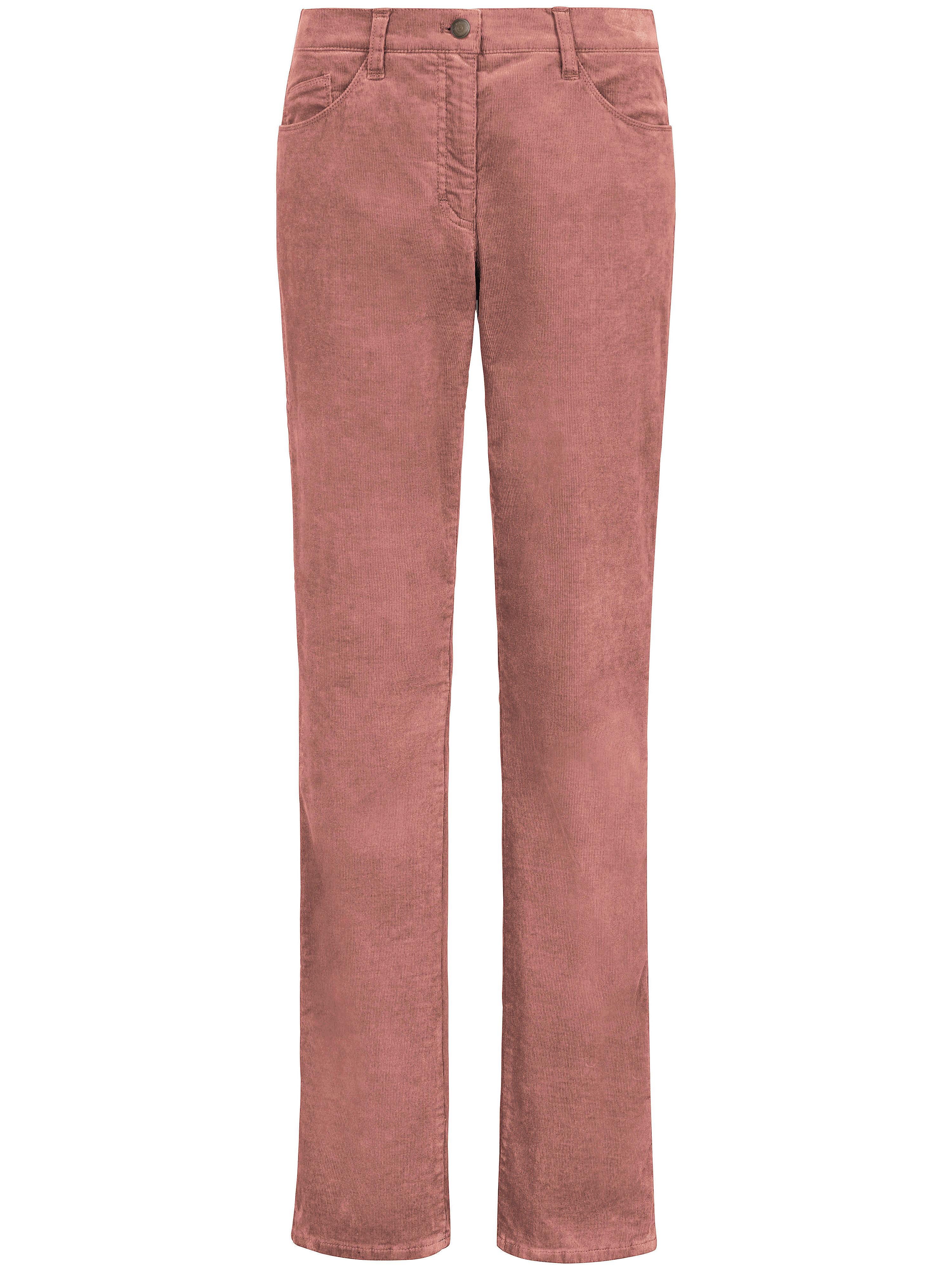Le pantalon velours Feminine Fit modèle Carola  Brax Feel Good rose taille 22