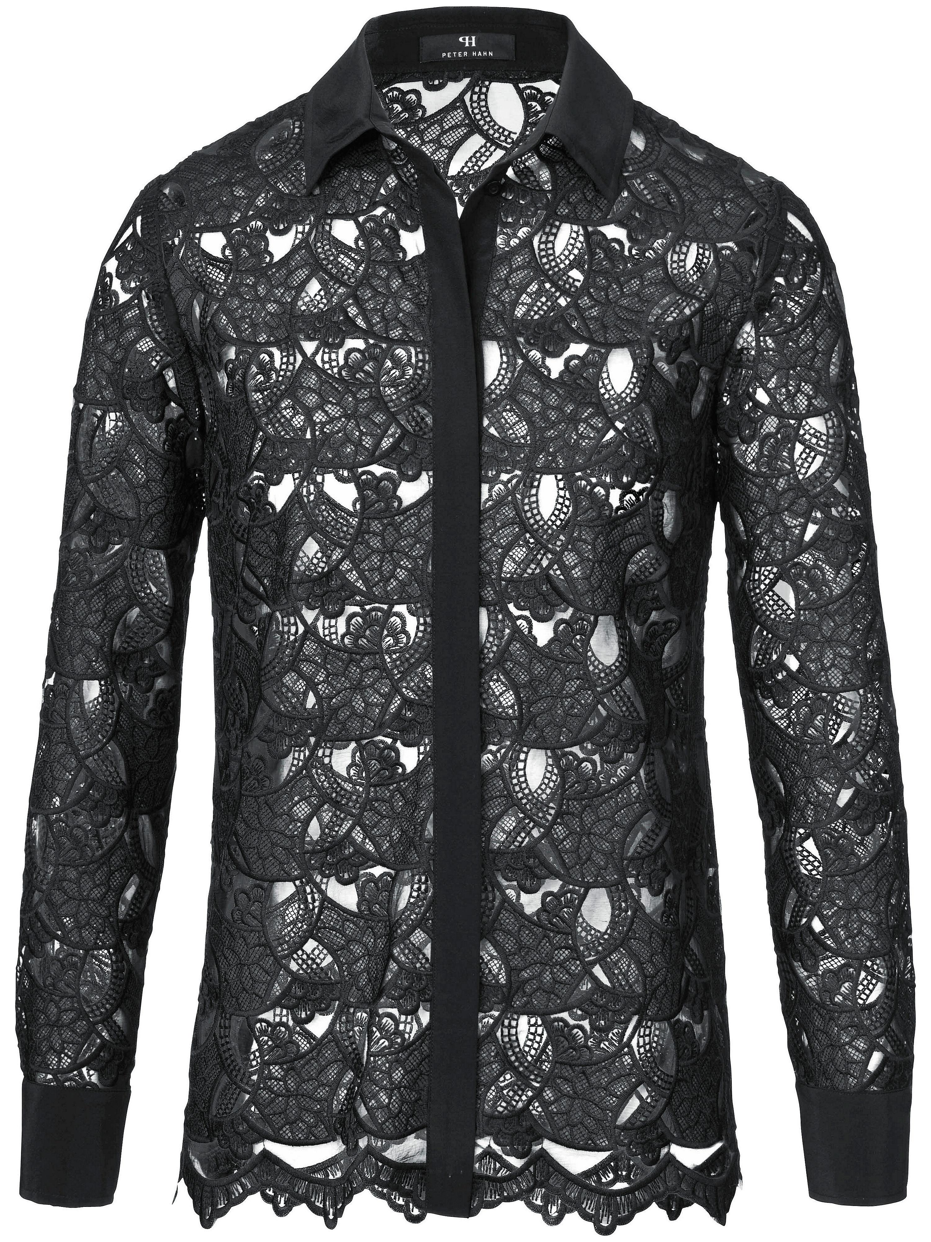 Image of   Blondeskjorte 100% silke Fra Peter Hahn sort