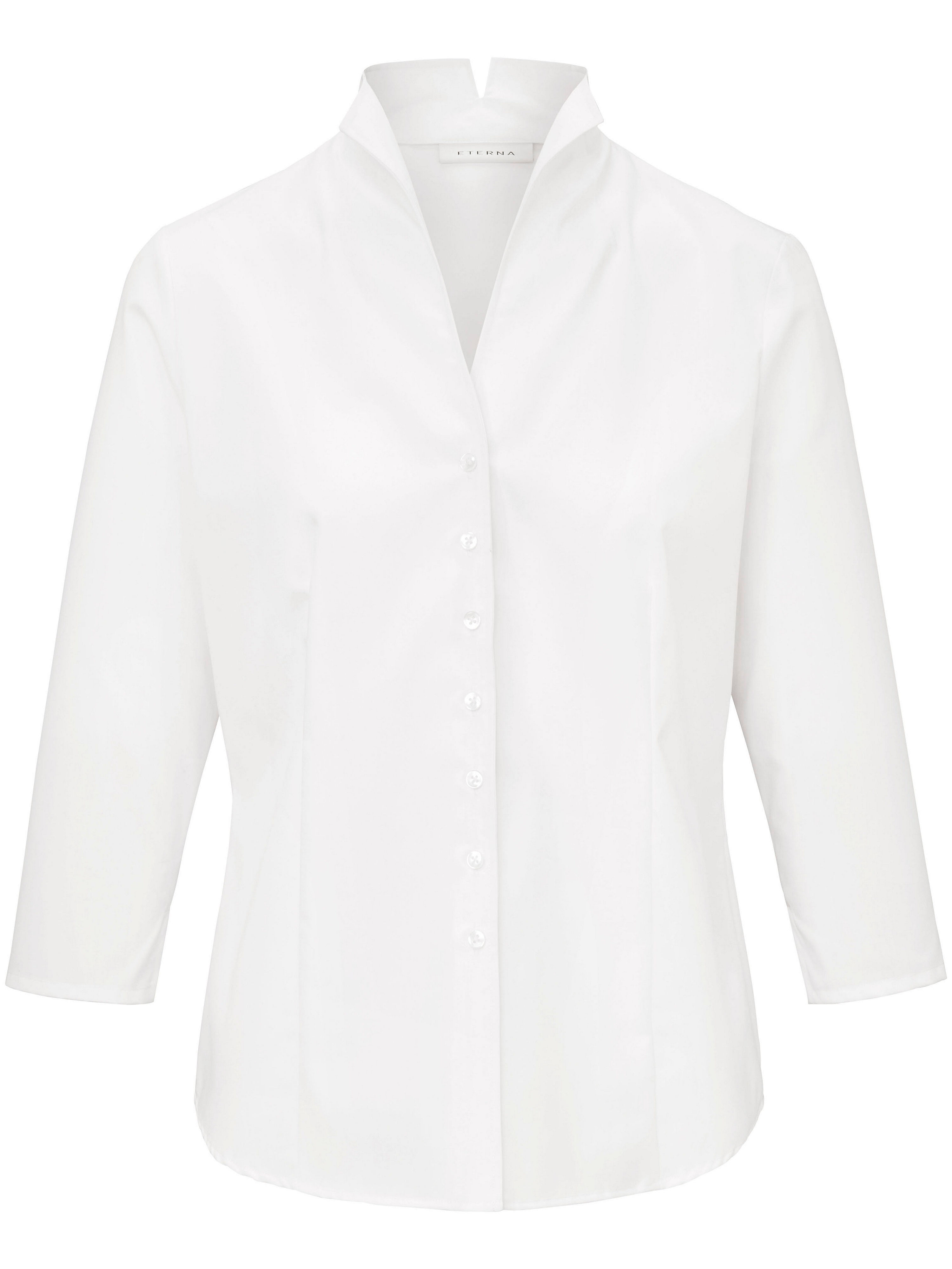 Le chemisier manches 3/4 100% coton  Eterna blanc taille 54