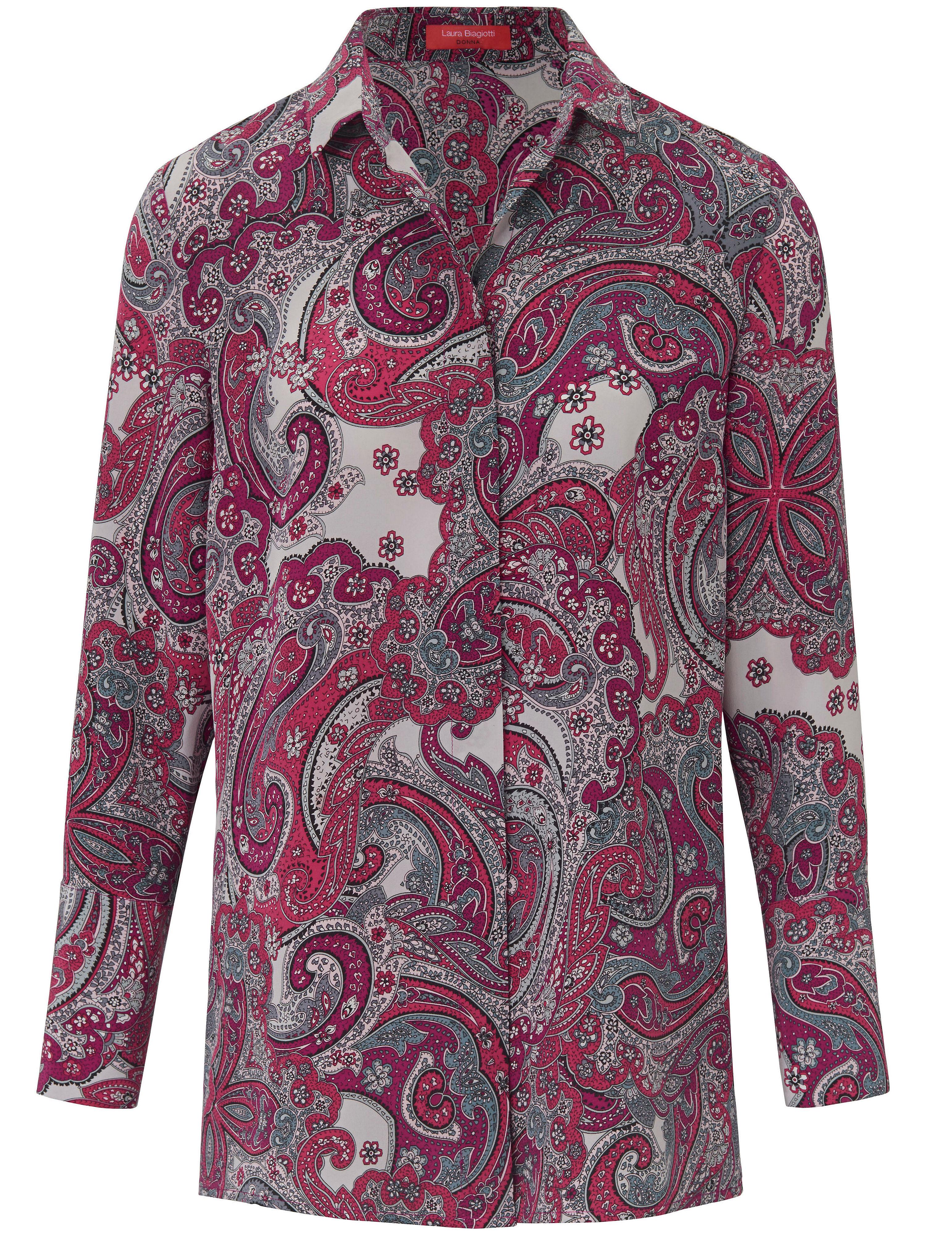 Bluse aus 100% Seide Laura Biagiotti Donna mehrfarbig   Bekleidung > Blusen > Sonstige Blusen   Print - Pink   Chine   Laura Biagiotti Donna