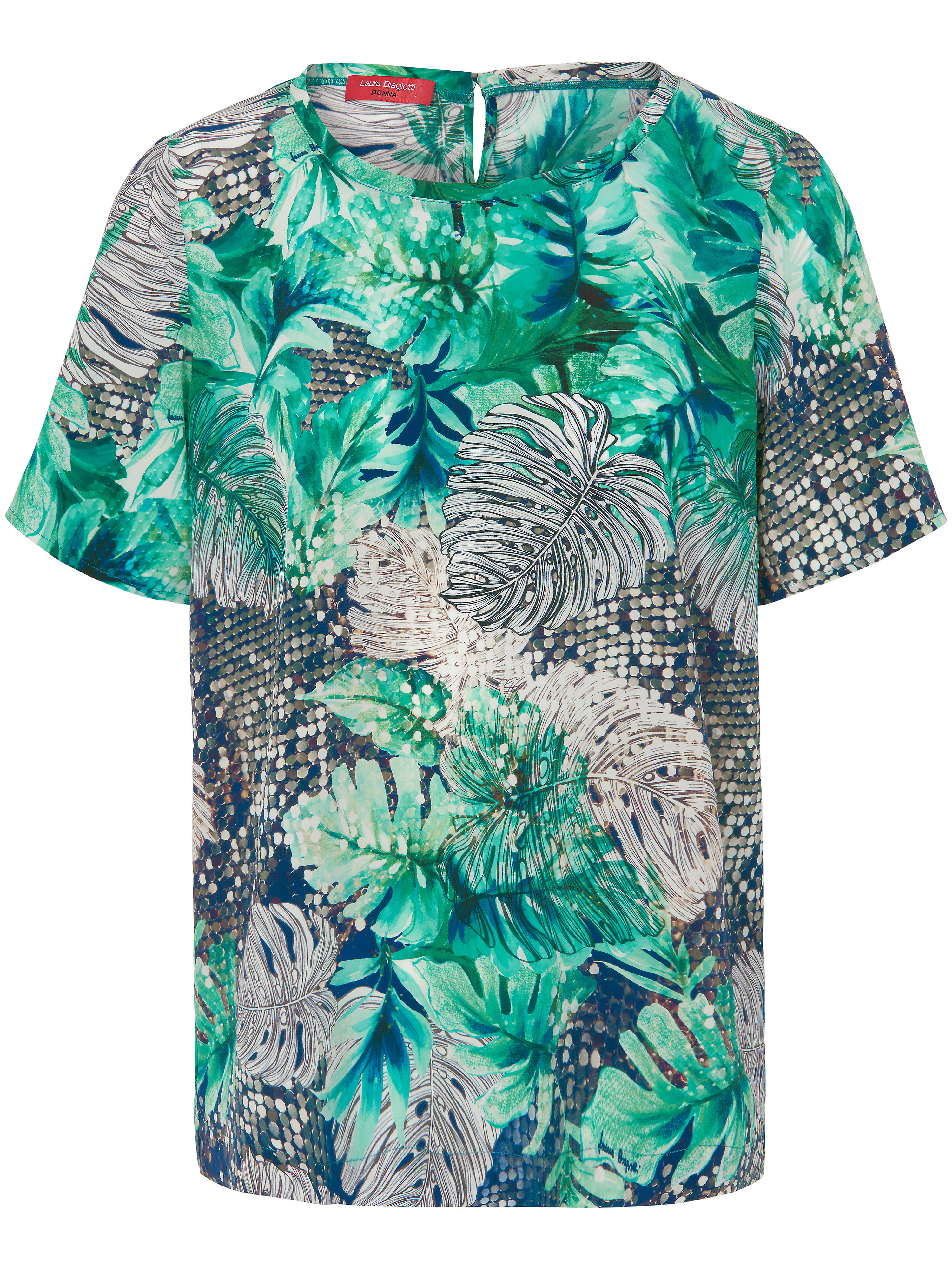 Image of   Bluse 100% silke Fra Laura Biagiotti Donna multicolor