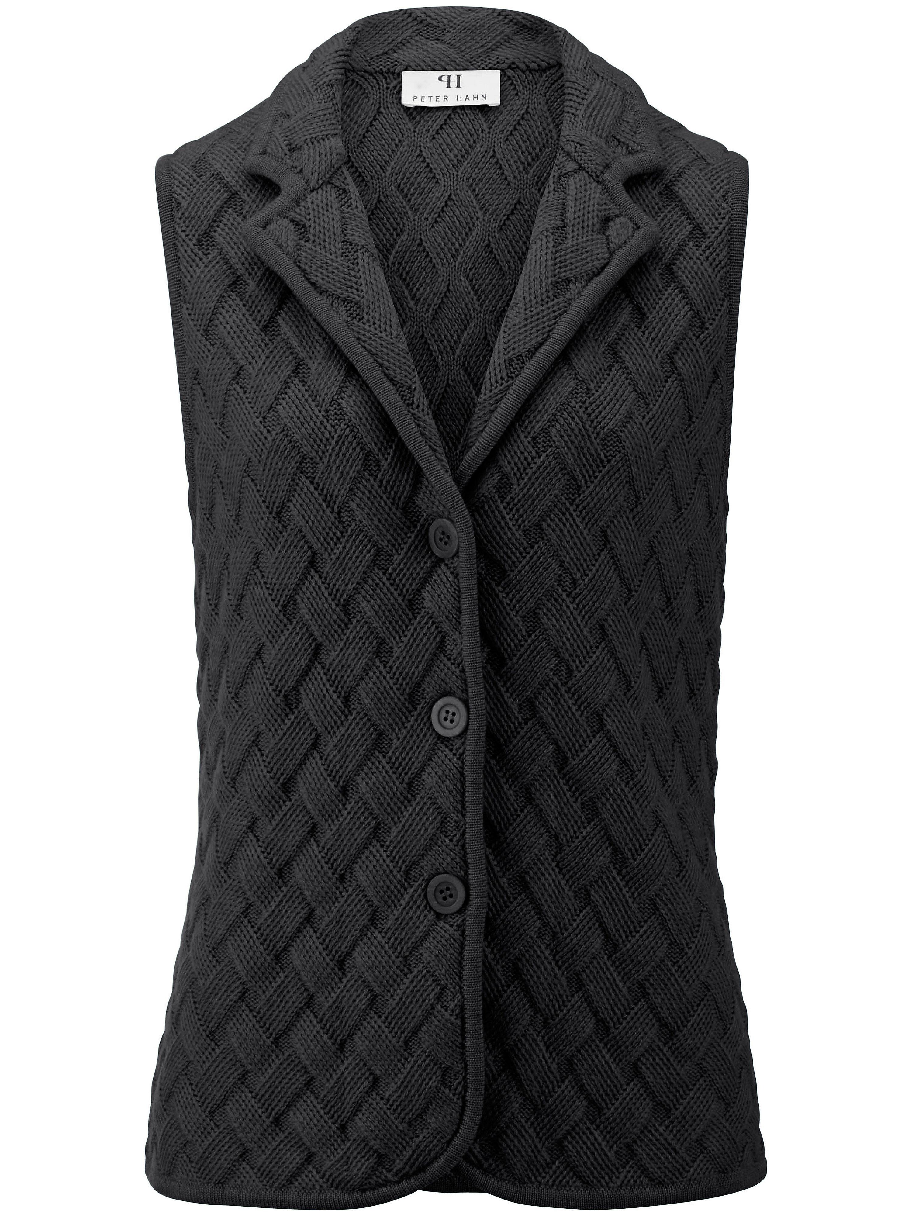 Mouwloos vest van 100% scheerwol Van Peter Hahn paars