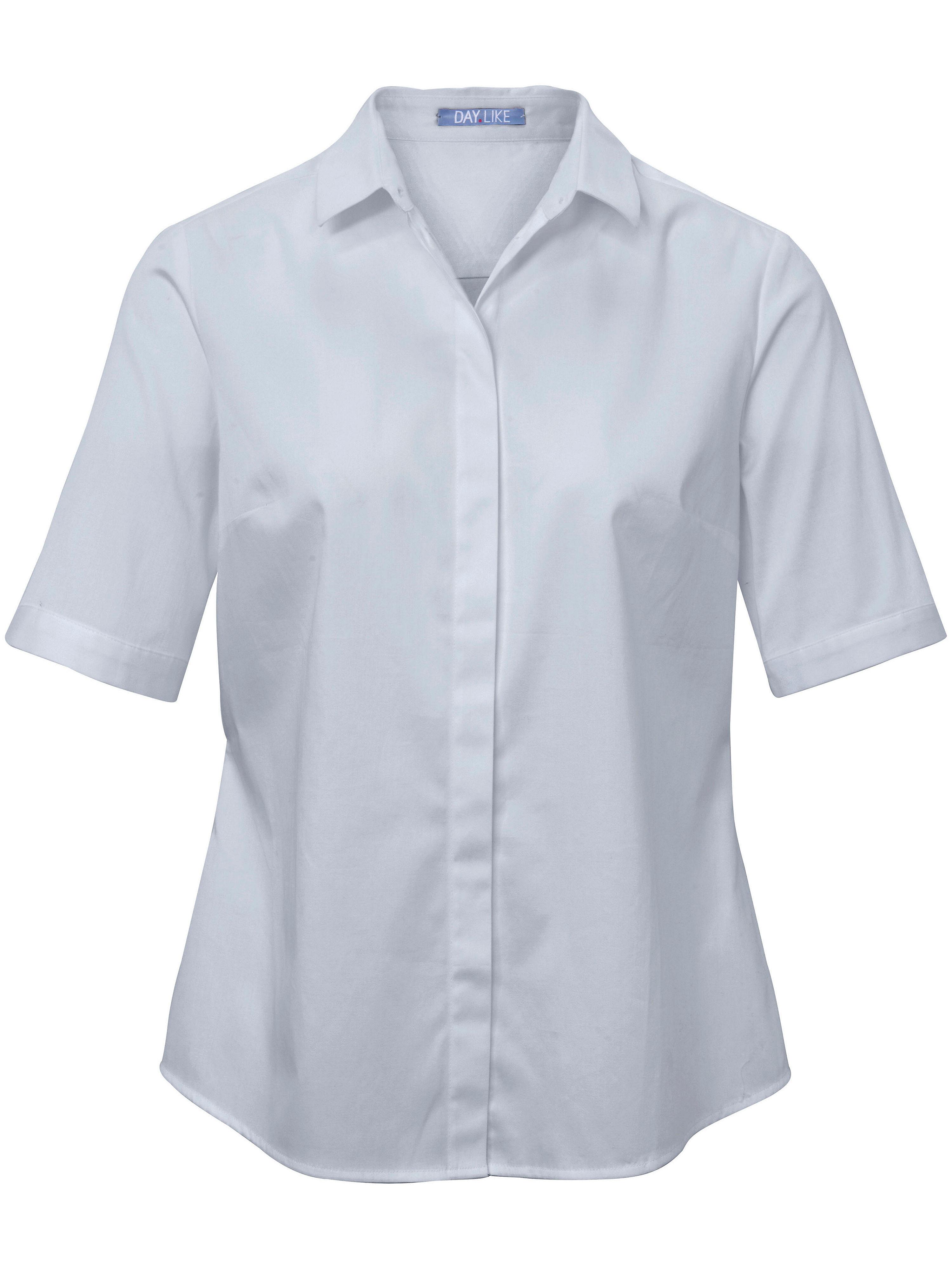 Le chemisier à manches courtes coton stretch  DAY.LIKE bleu taille 46