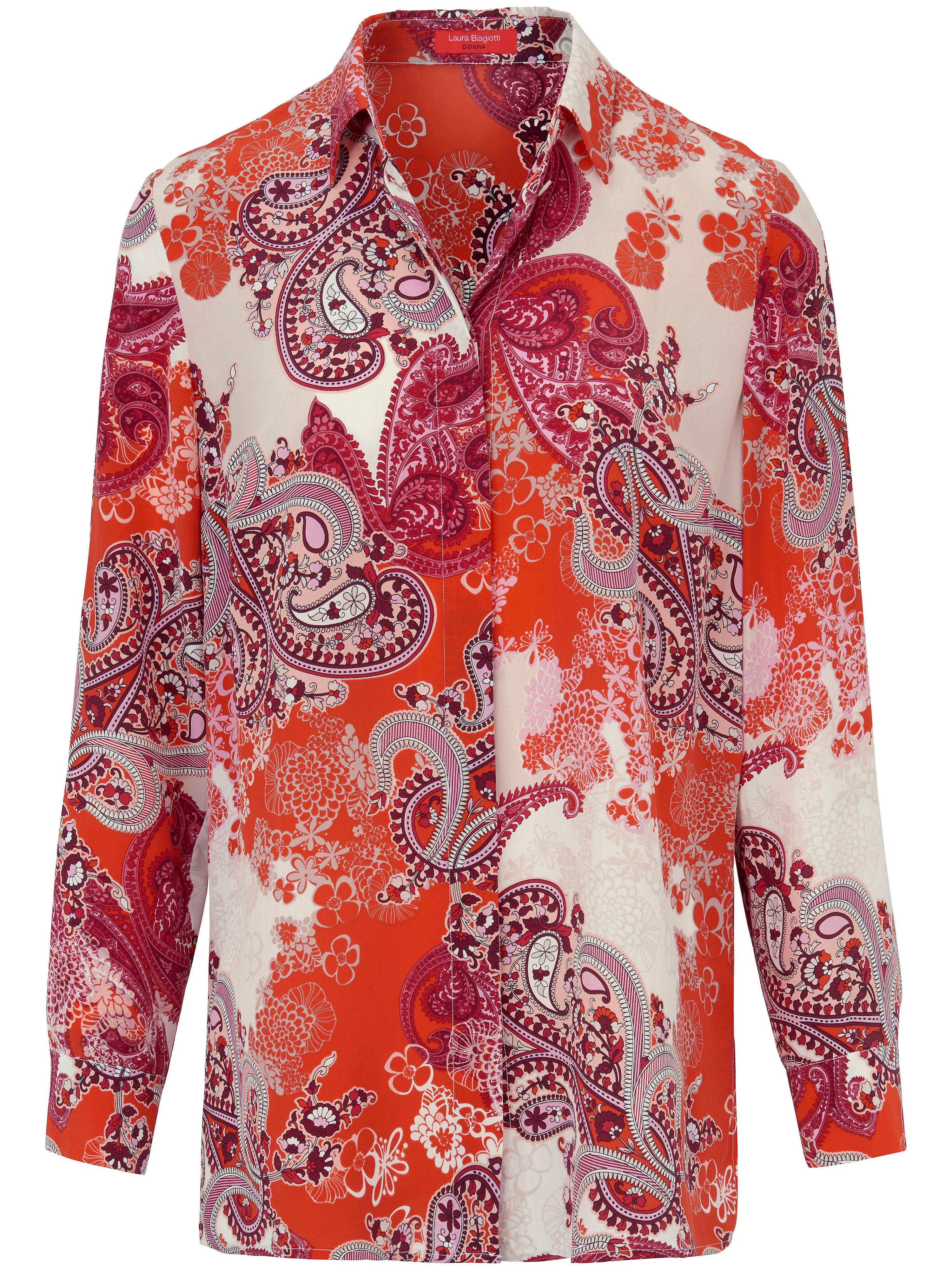 Image of   Skjorte 100% silke Fra Laura Biagiotti Donna multicolor