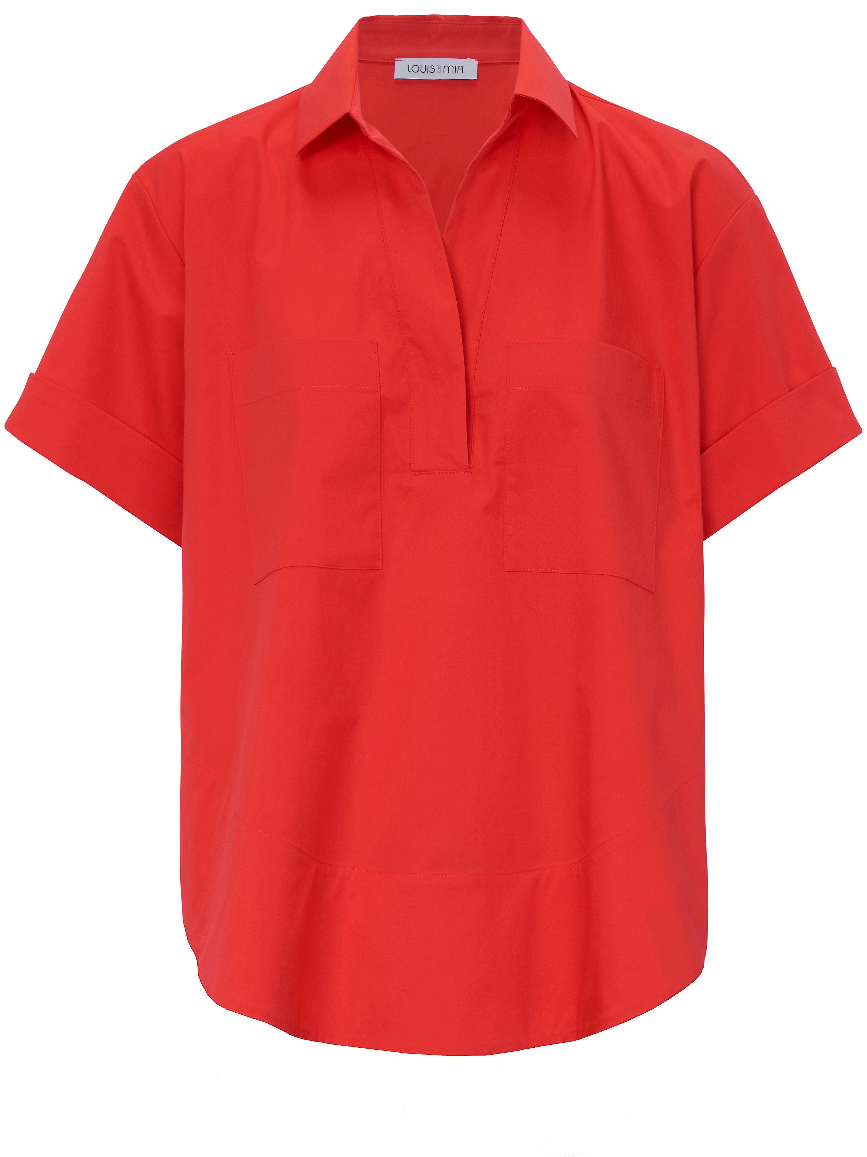 La blouse manches courtes  Louis and Mia rouge taille 46