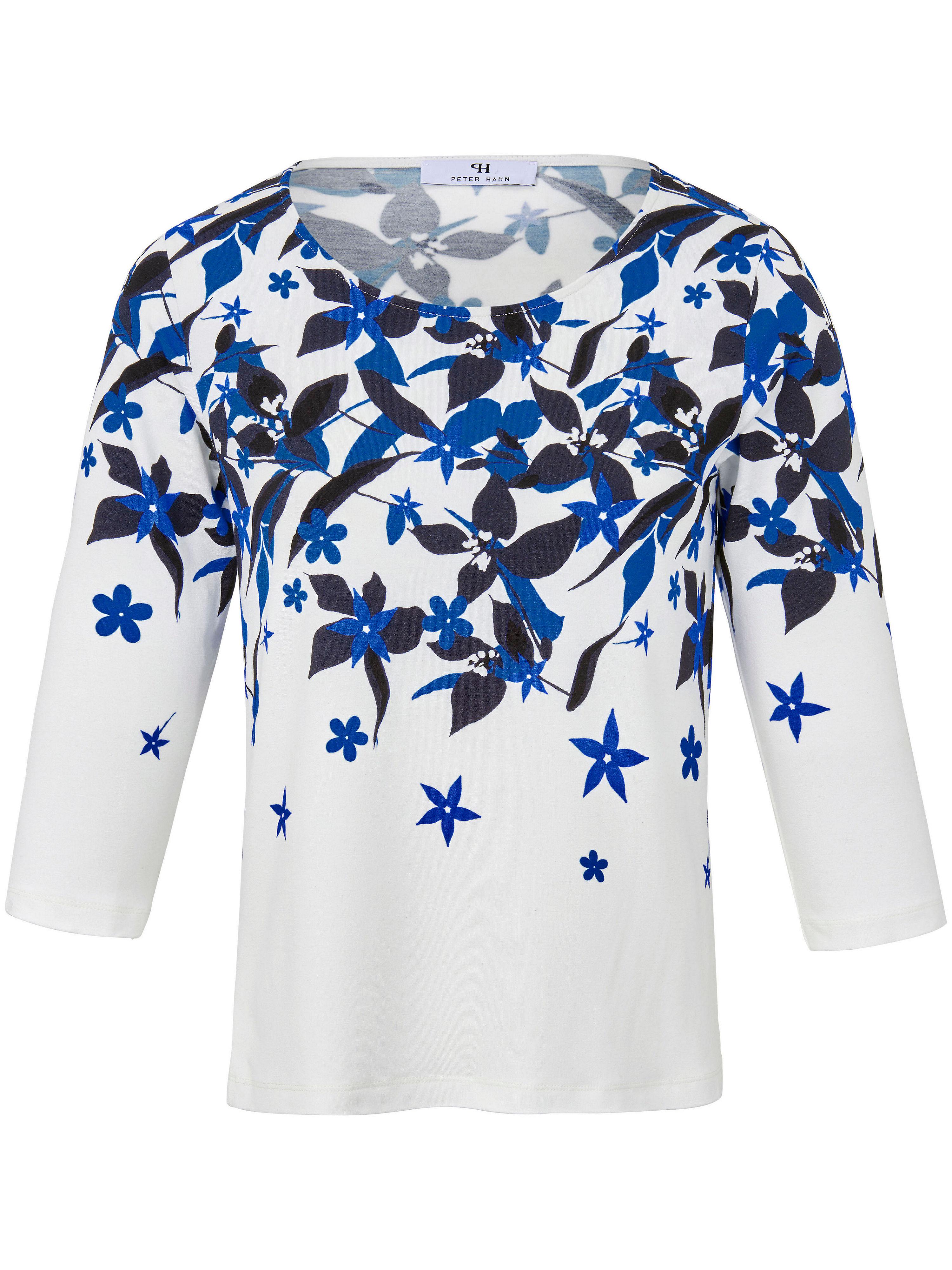Le T-shirt imprimé grand teint, manches 3/4  Peter Hahn bleu taille 48