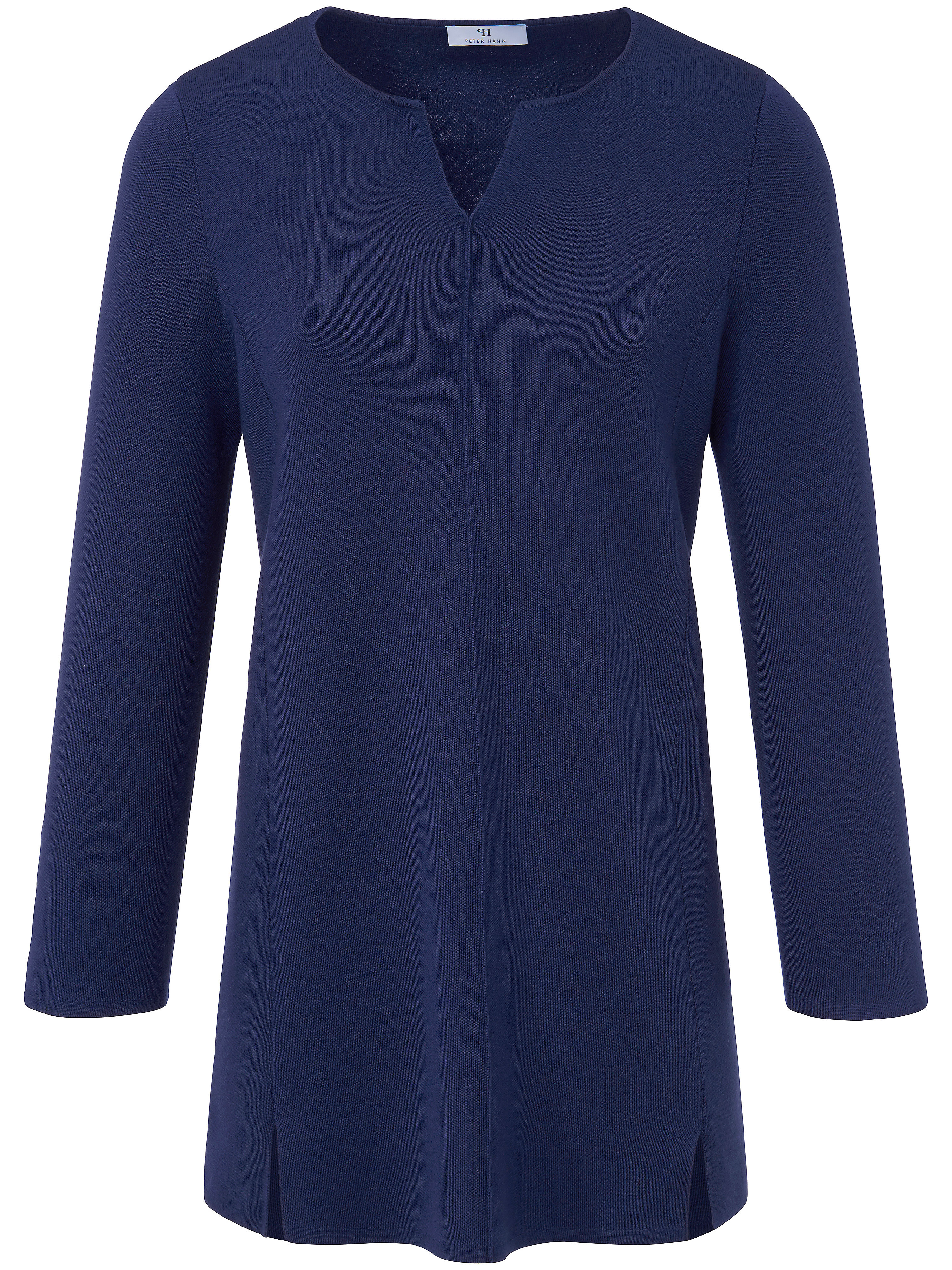 Le pull manches 7/8 100% laine vierge  Peter Hahn bleu taille 38