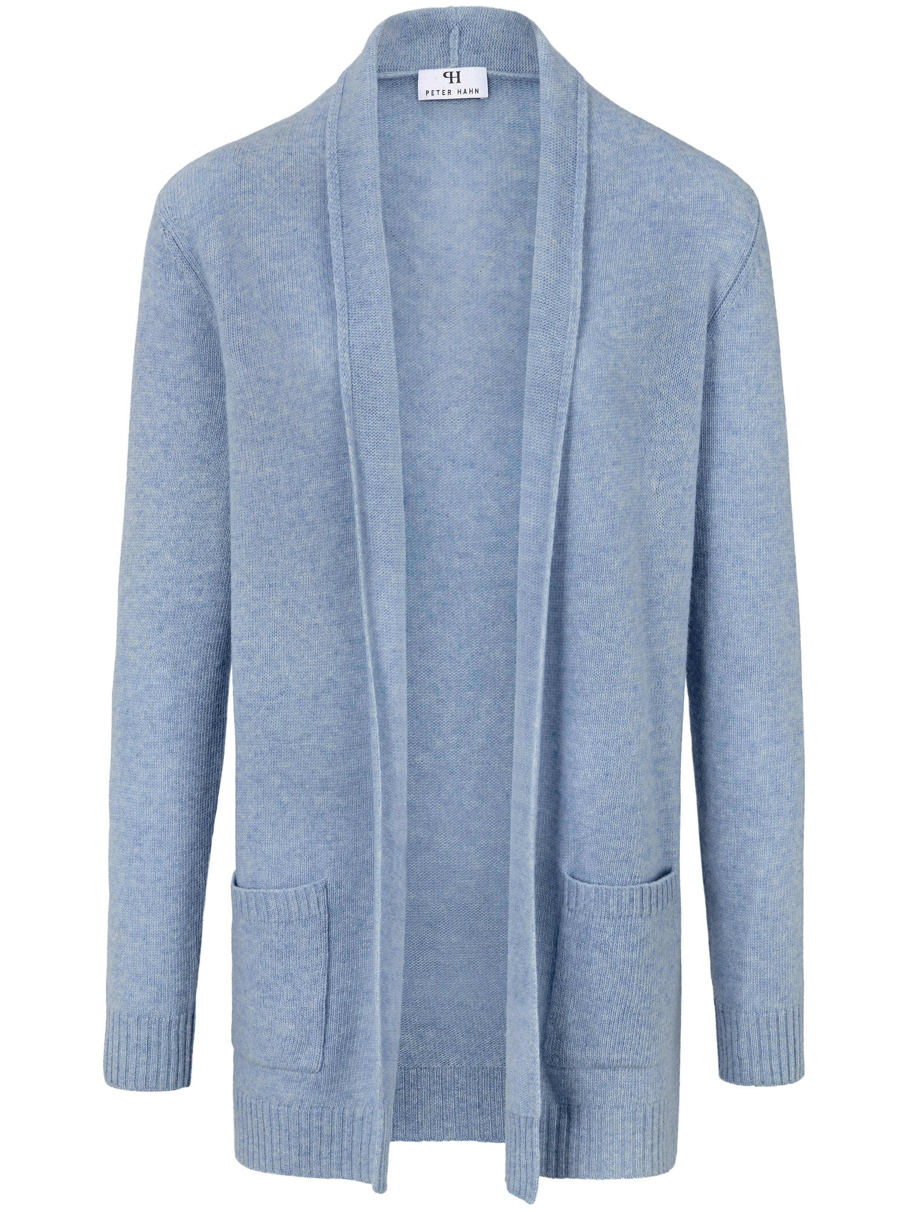 Le gilet long 100% laine vierge  Peter Hahn bleu taille 40