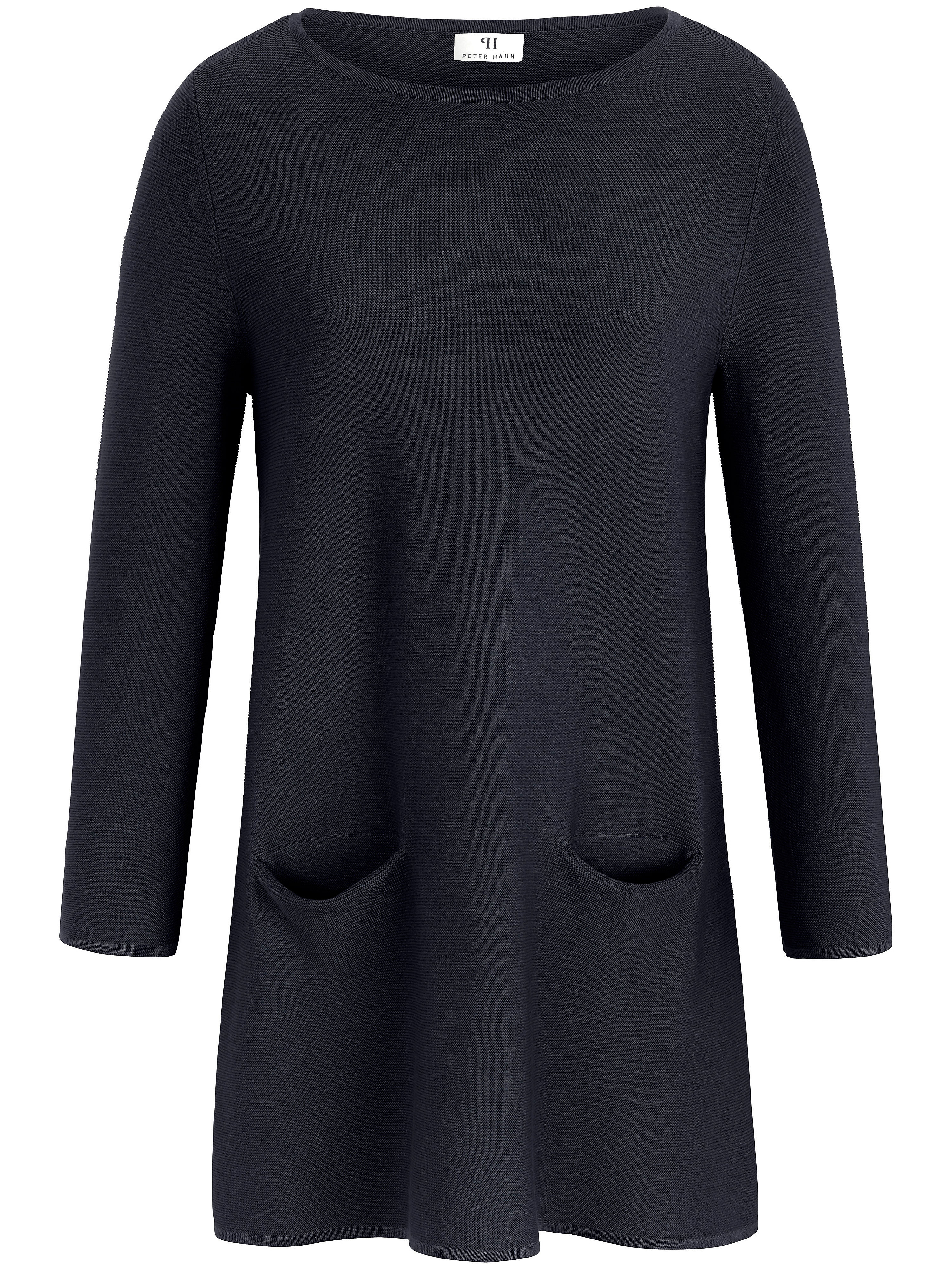 Peter Hahn Tröja krage i 100% ren ny ull, modell Achim från Peter Hahn blå