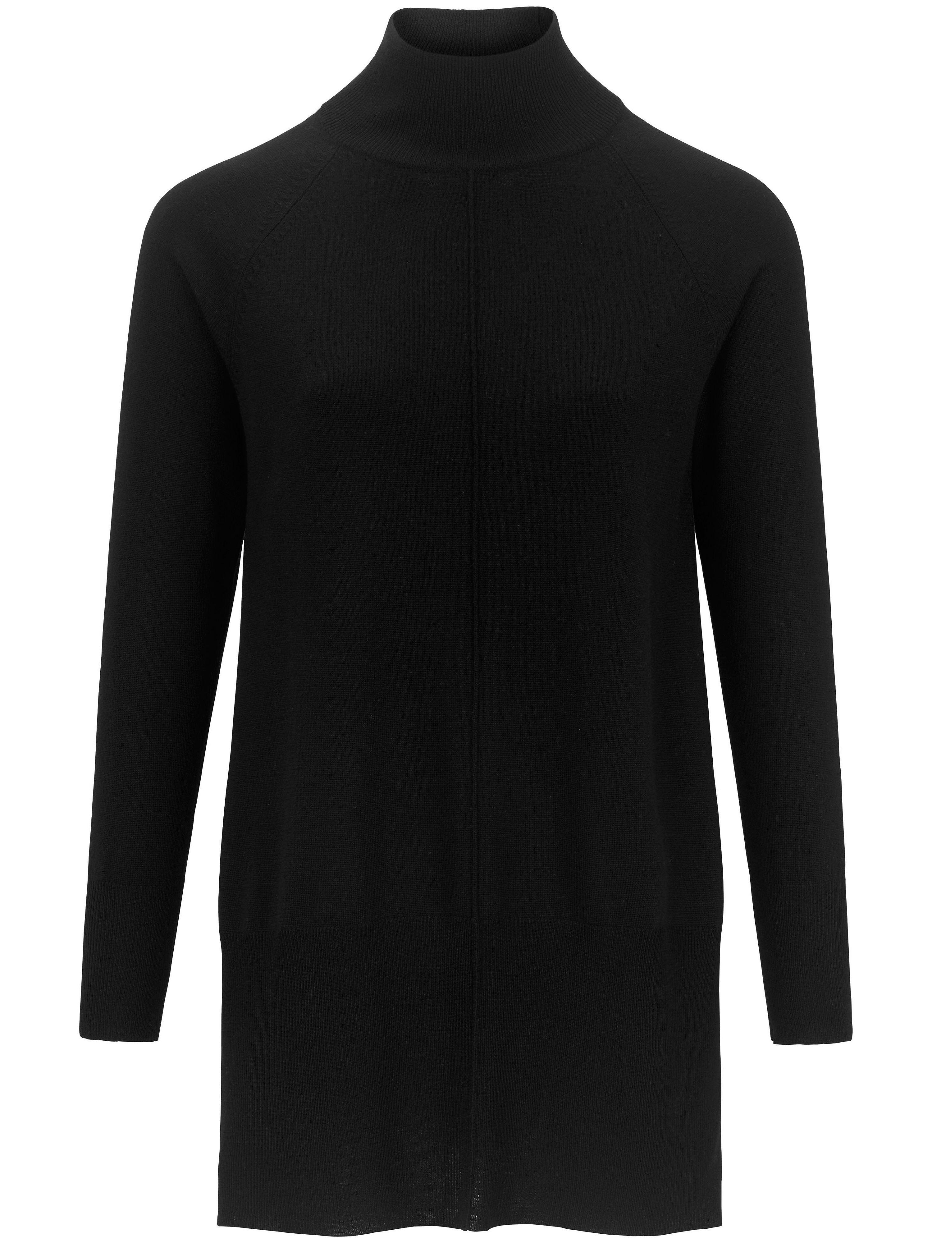 Image of Lange trui van 100% scheerwol Van DAY.LIKE zwart