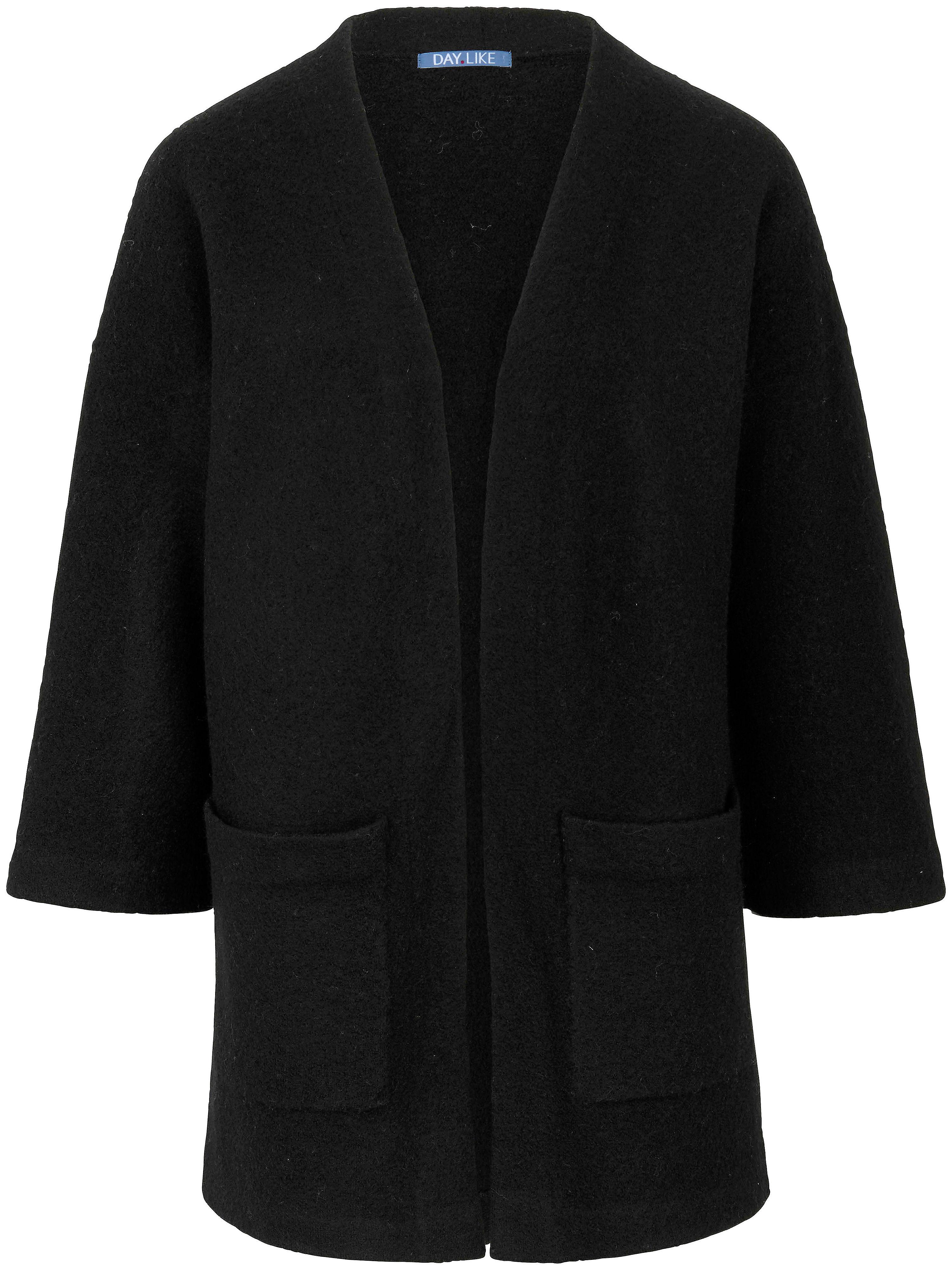 Image of   Cardigan i 100% ren ny uld Fra DAY.LIKE sort