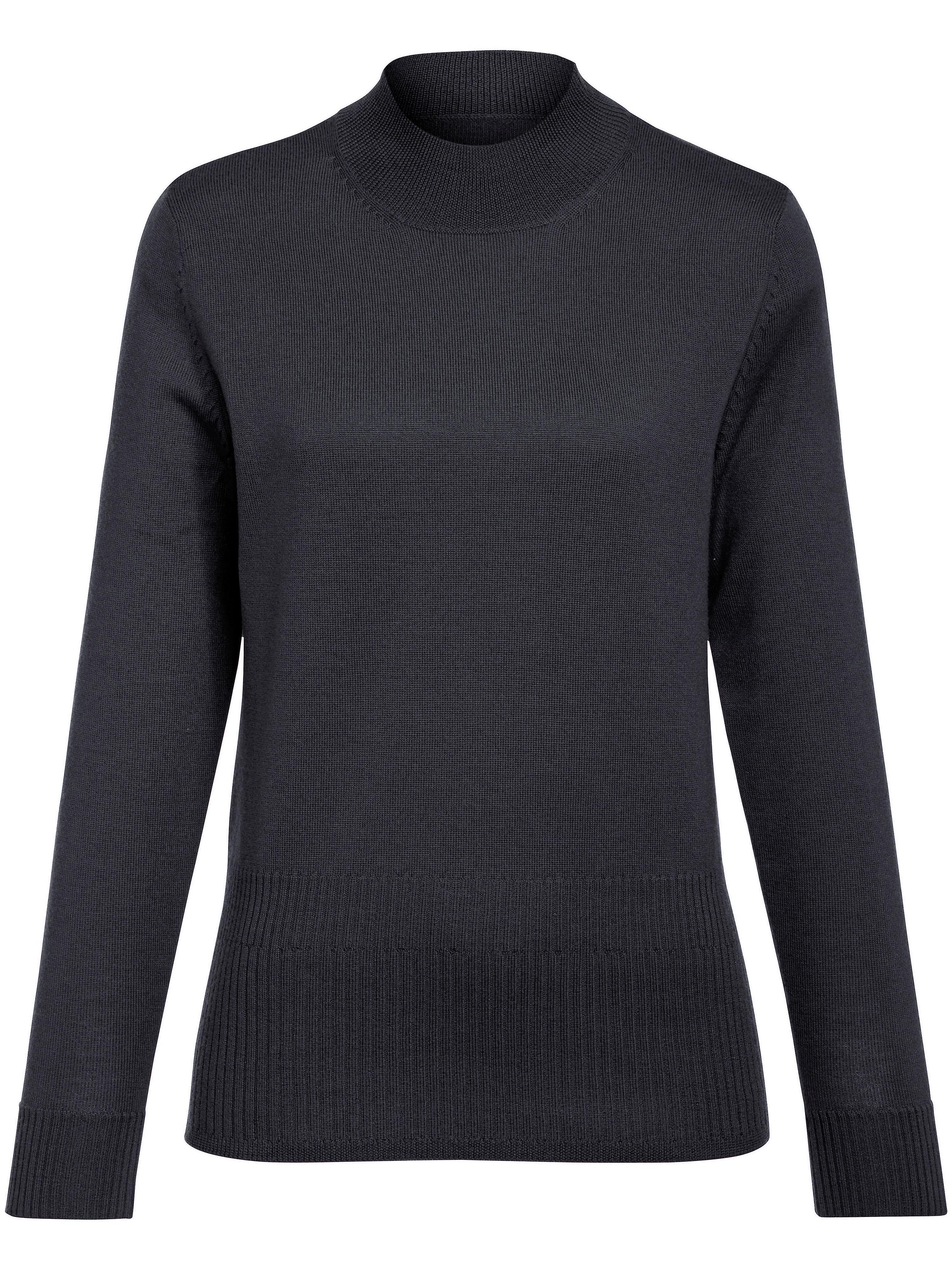 peter hahn - Pullover aus 100% Schurwolle BIELLA YARN  blau