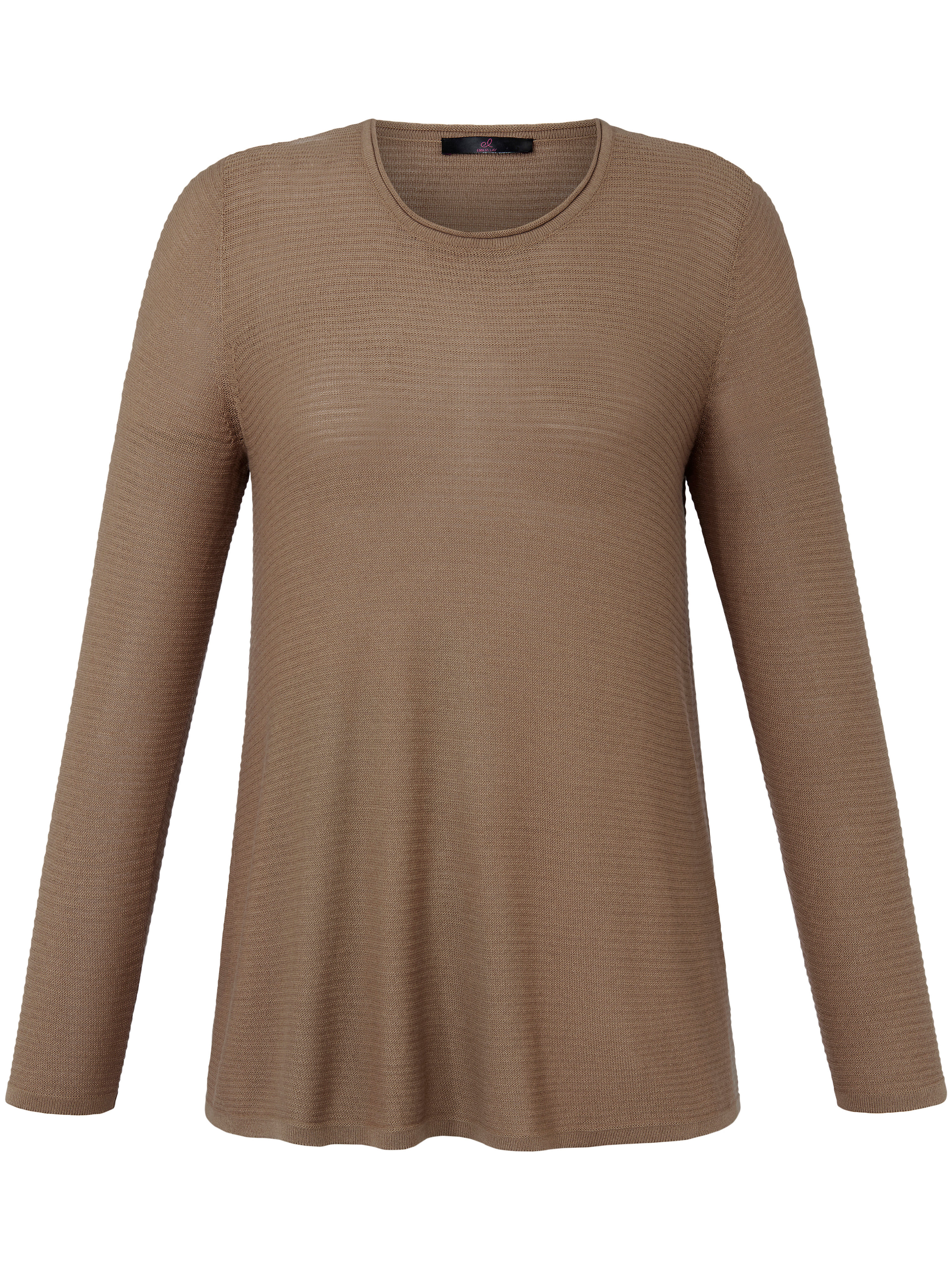 Le pull 100% laine vierge  Anna Aura beige taille 52