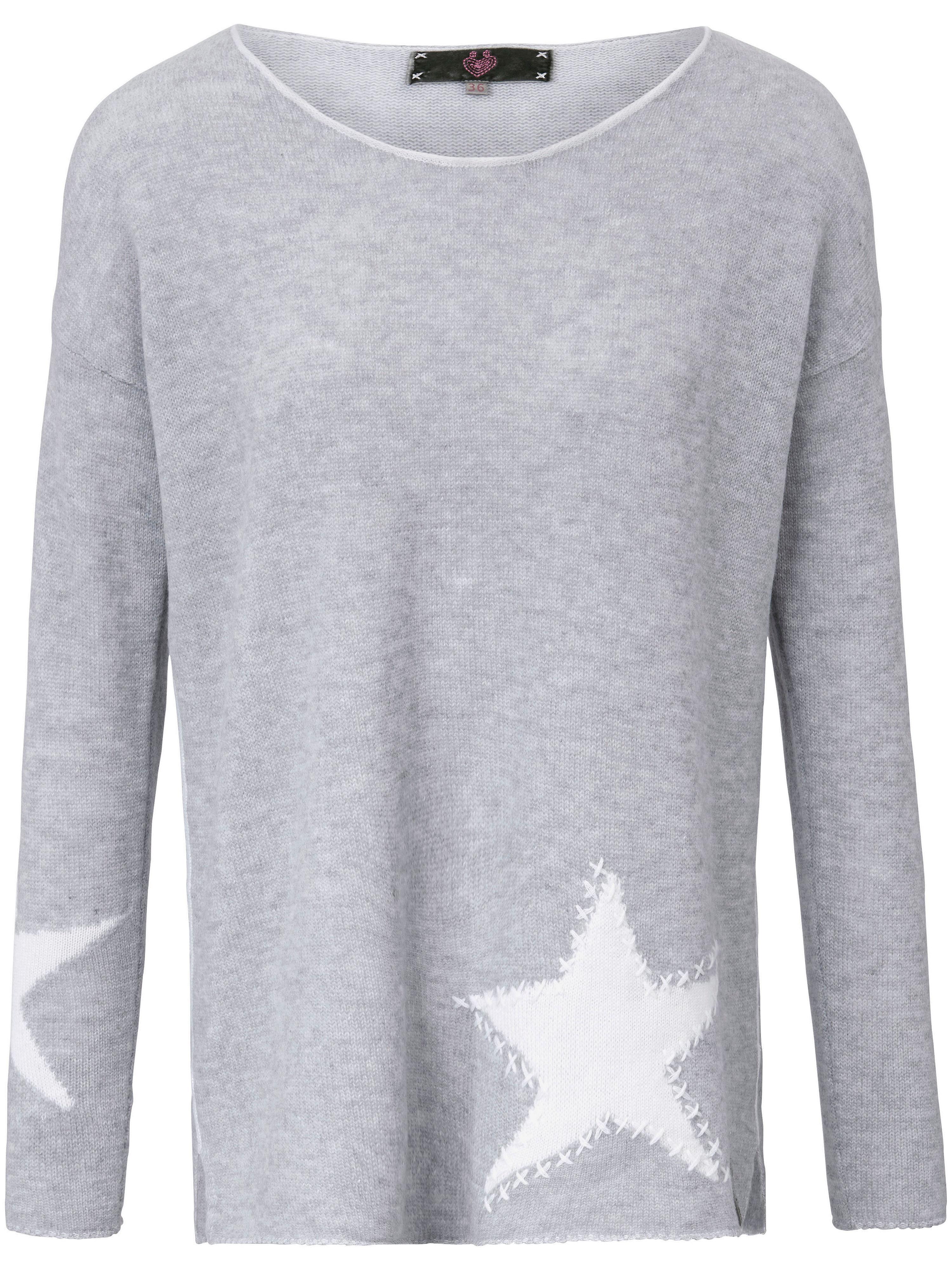 Image of   Strikbluse i 100% ren ny uld Fra LIEBLINGSSTÜCK grå