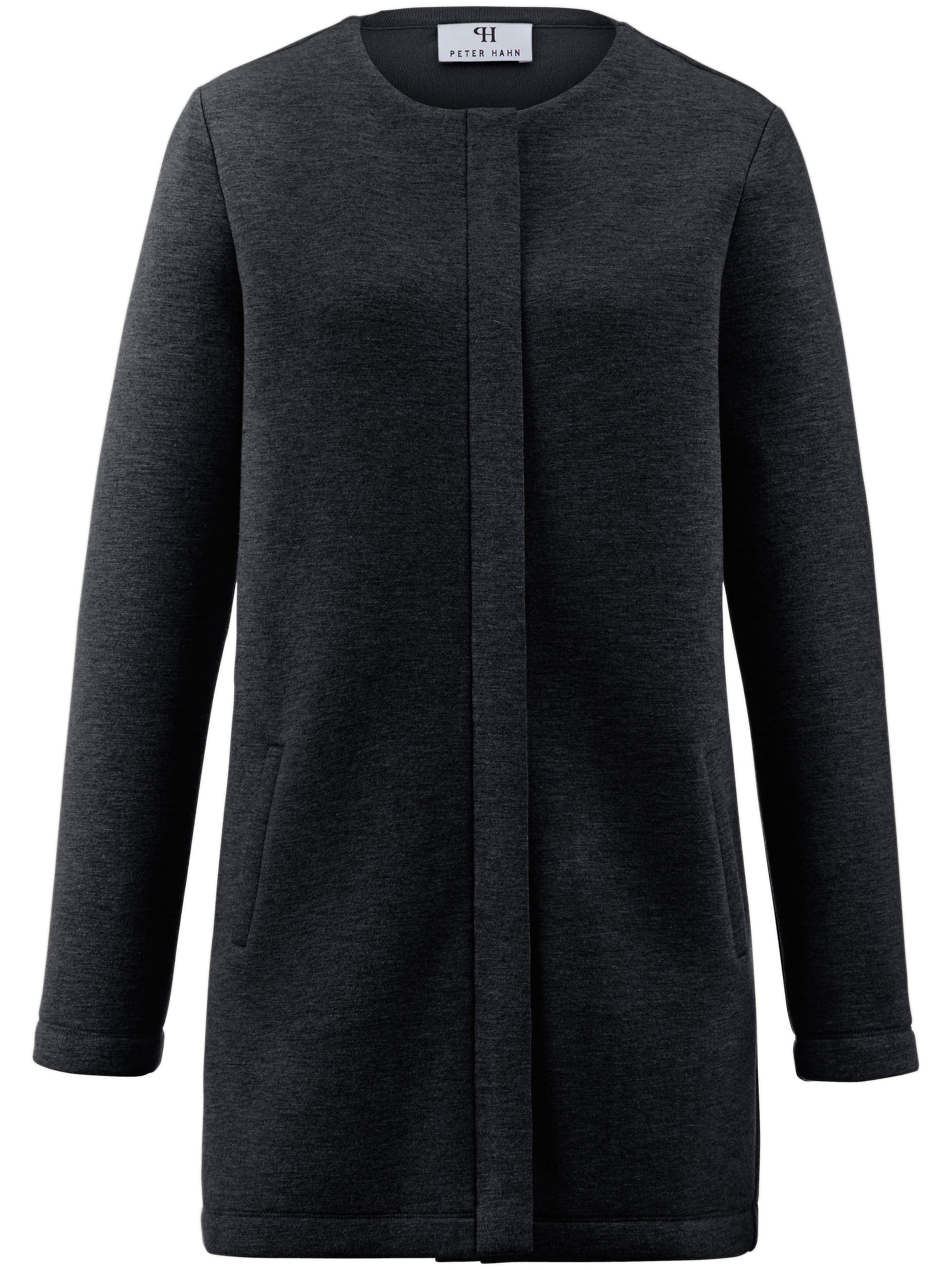 Jersey-Mantel 1/1-Arm Peter Hahn schwarz | Bekleidung > Mäntel > Sonstige Mäntel | Jersey | Peter Hahn