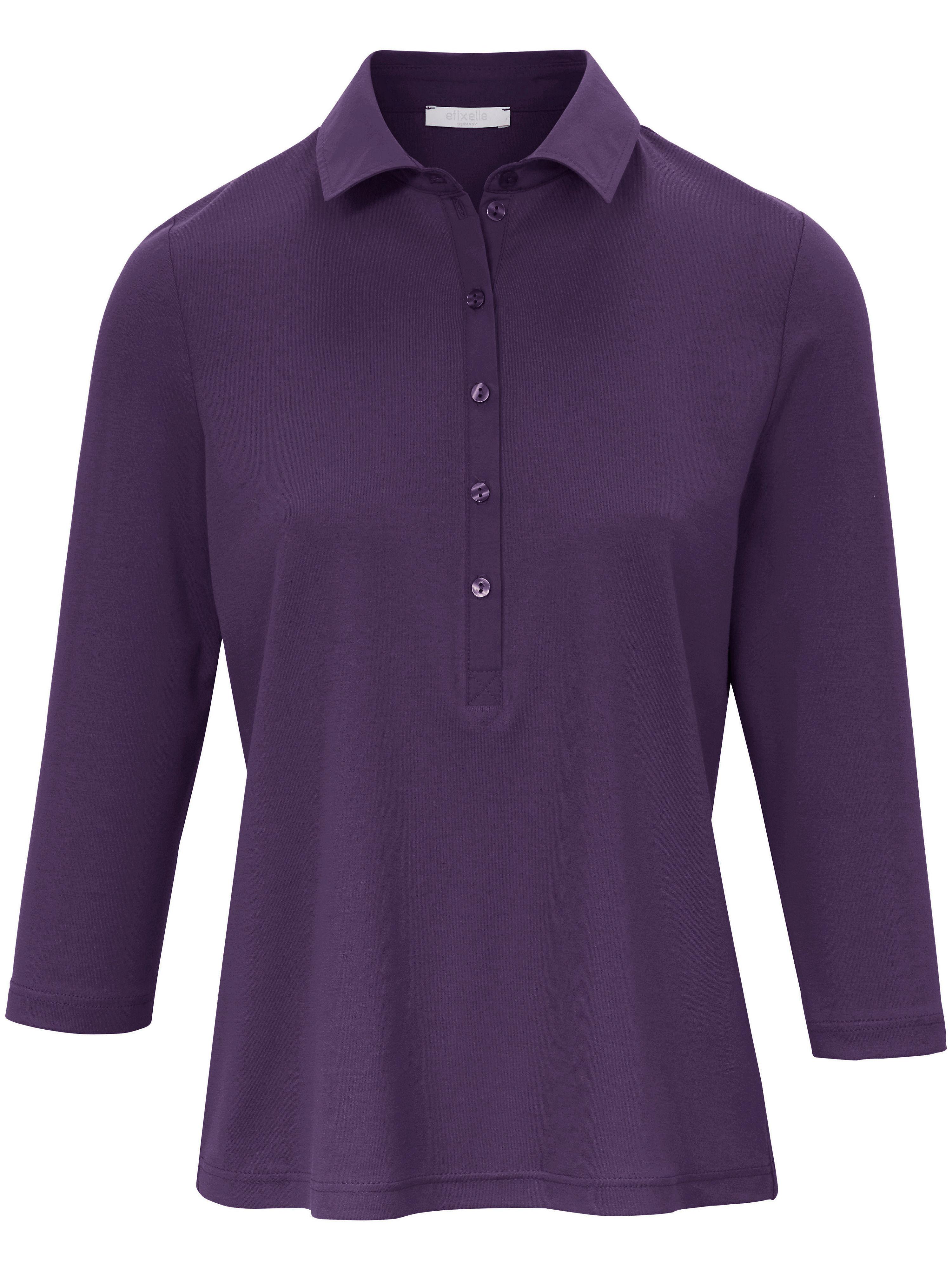 Polo-Shirt 3/4-Arm Efixelle lila | Bekleidung > Shirts | Glanz | Interlock - Jersey - Baumwolle | Efixelle