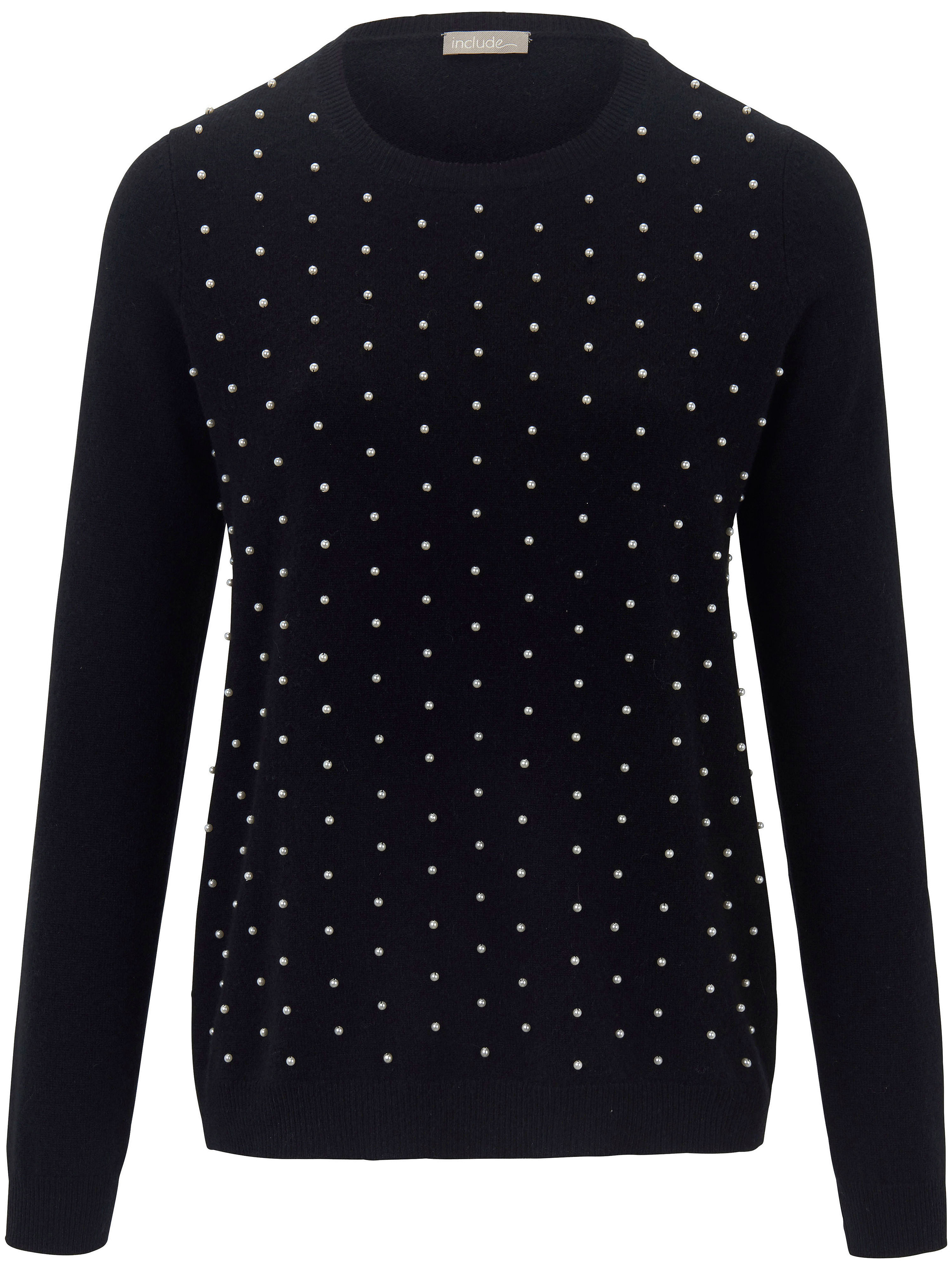e59baa3e16528 Rundhals-Pullover aus100% Kaschmir include schwarz günstig online kaufen