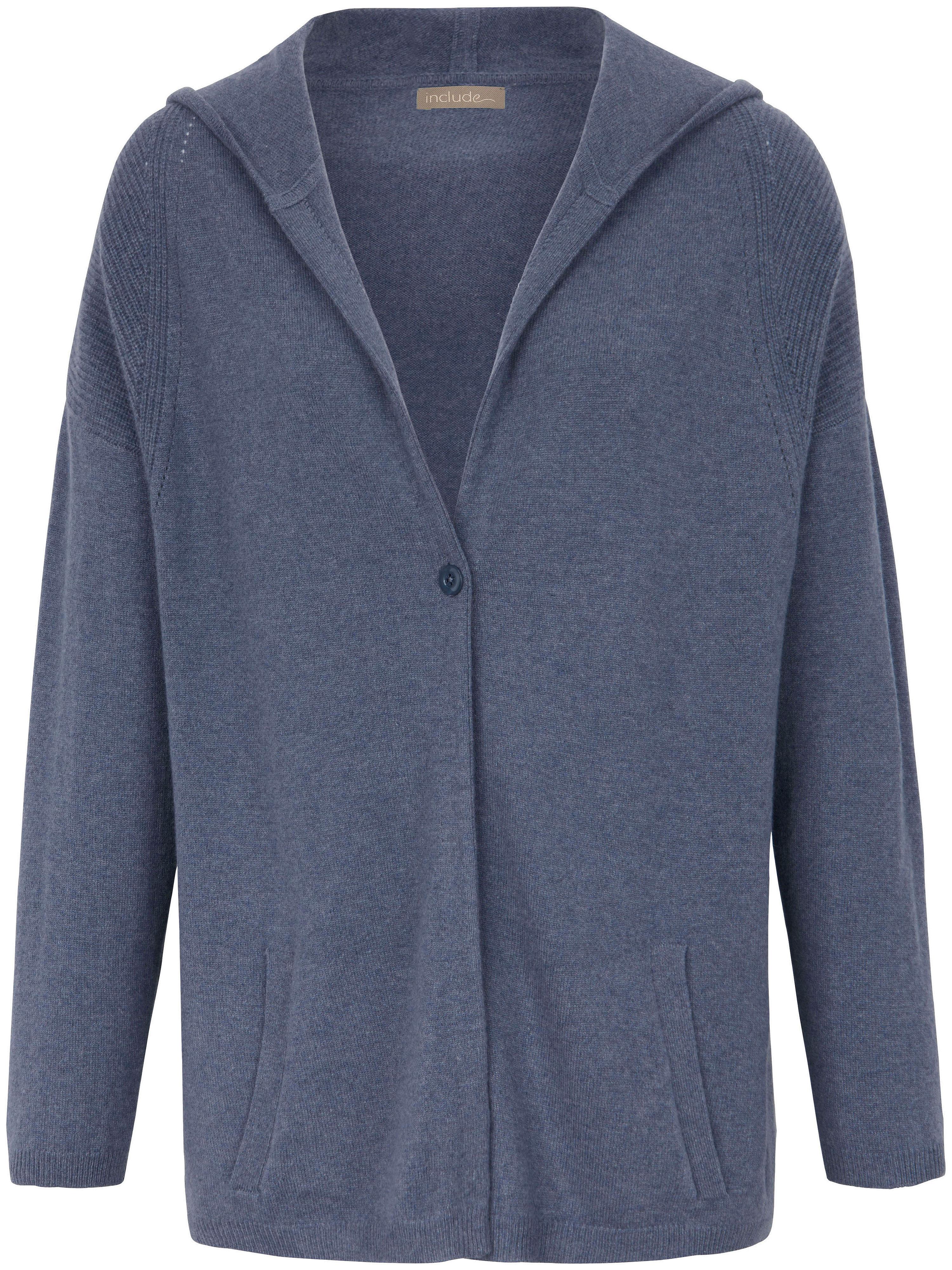 Strickjacke aus 100% Kaschmir include blau | Bekleidung > Strickjacken & -mäntel | Denim | include