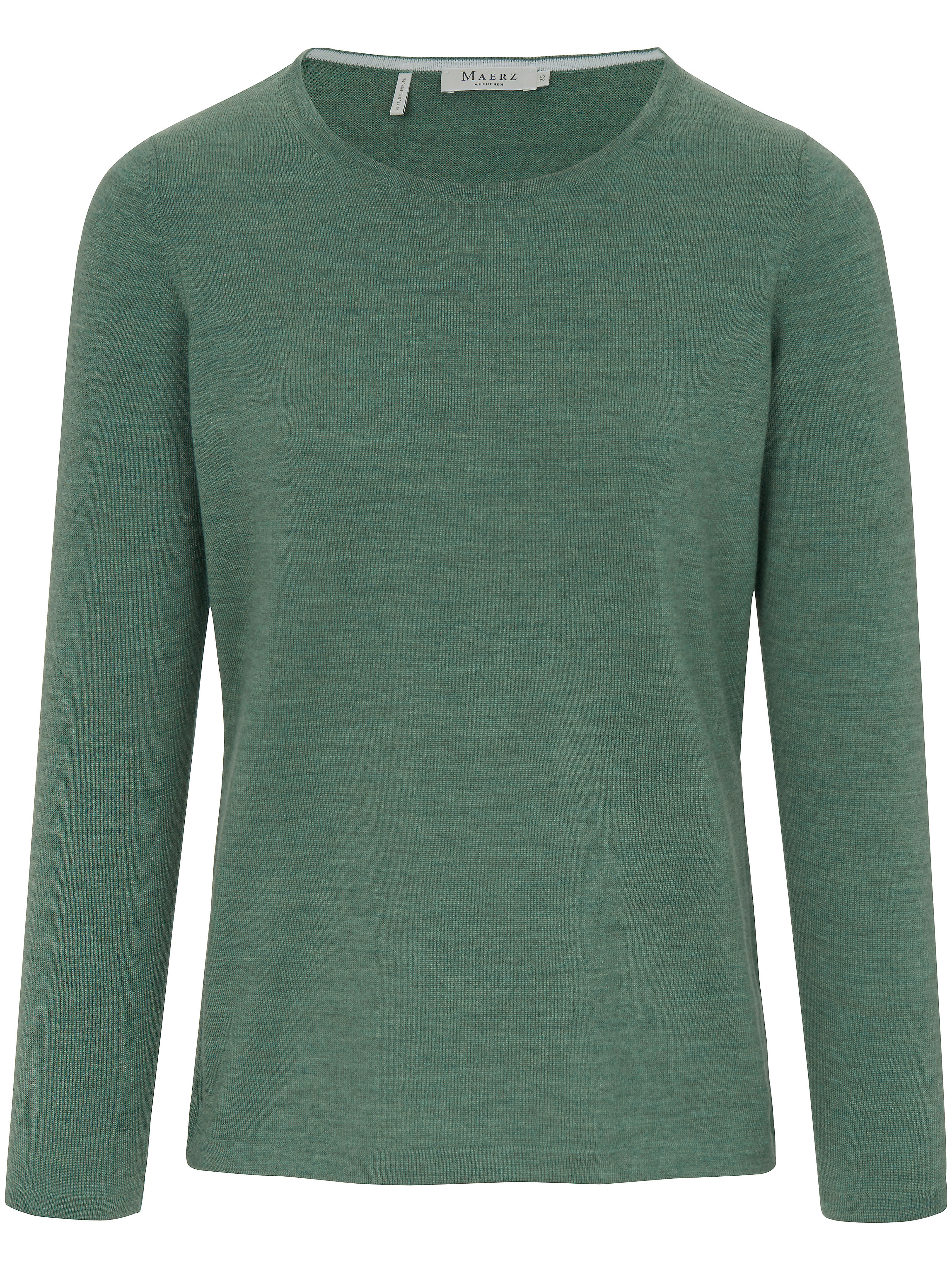Le pull 100% laine vierge  MAERZ Muenchen vert taille 42