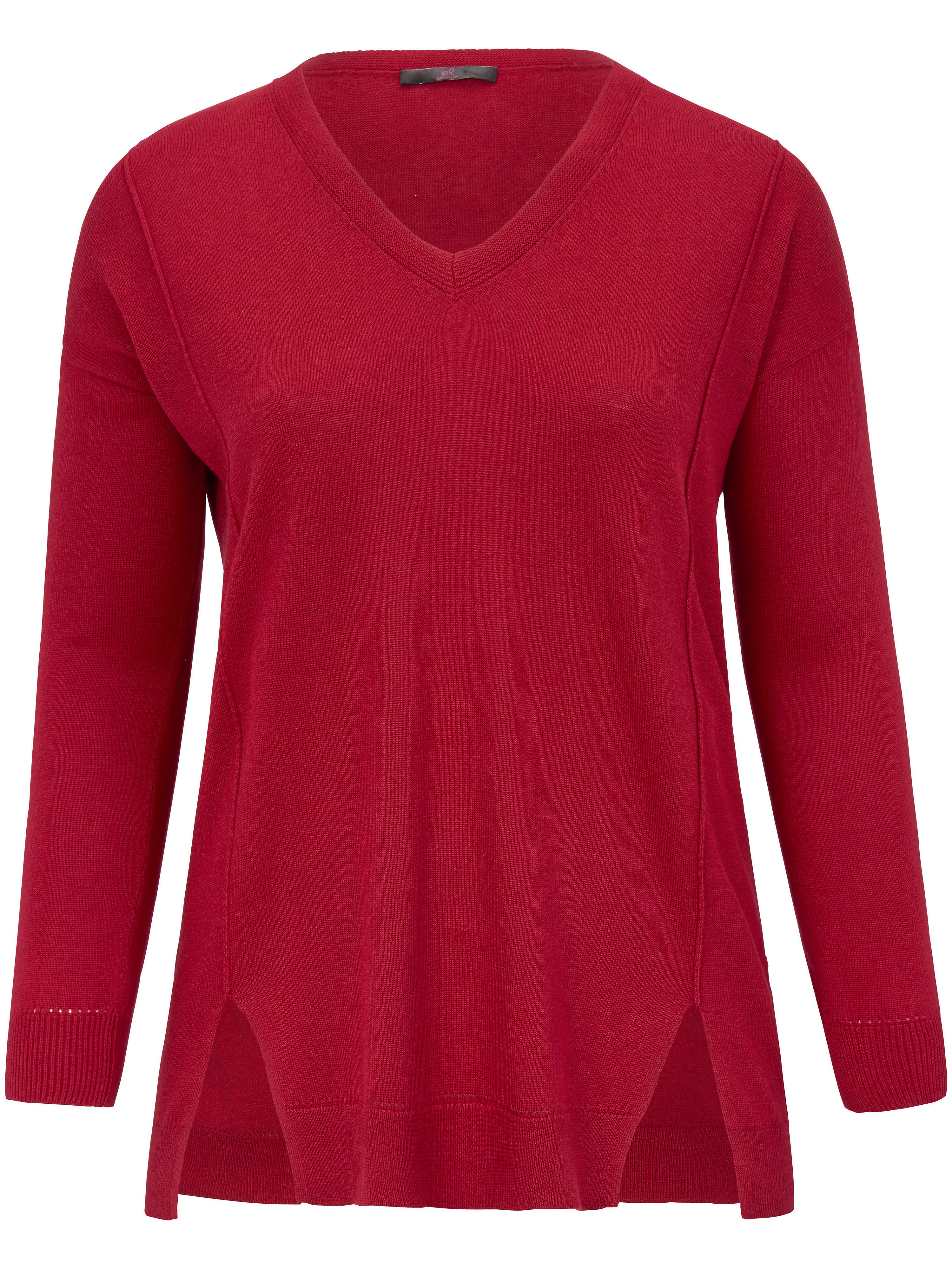V-Pullover Emilia Lay rot | Bekleidung > Pullover > V-Pullover | Rot | Schurwolle | Emilia Lay