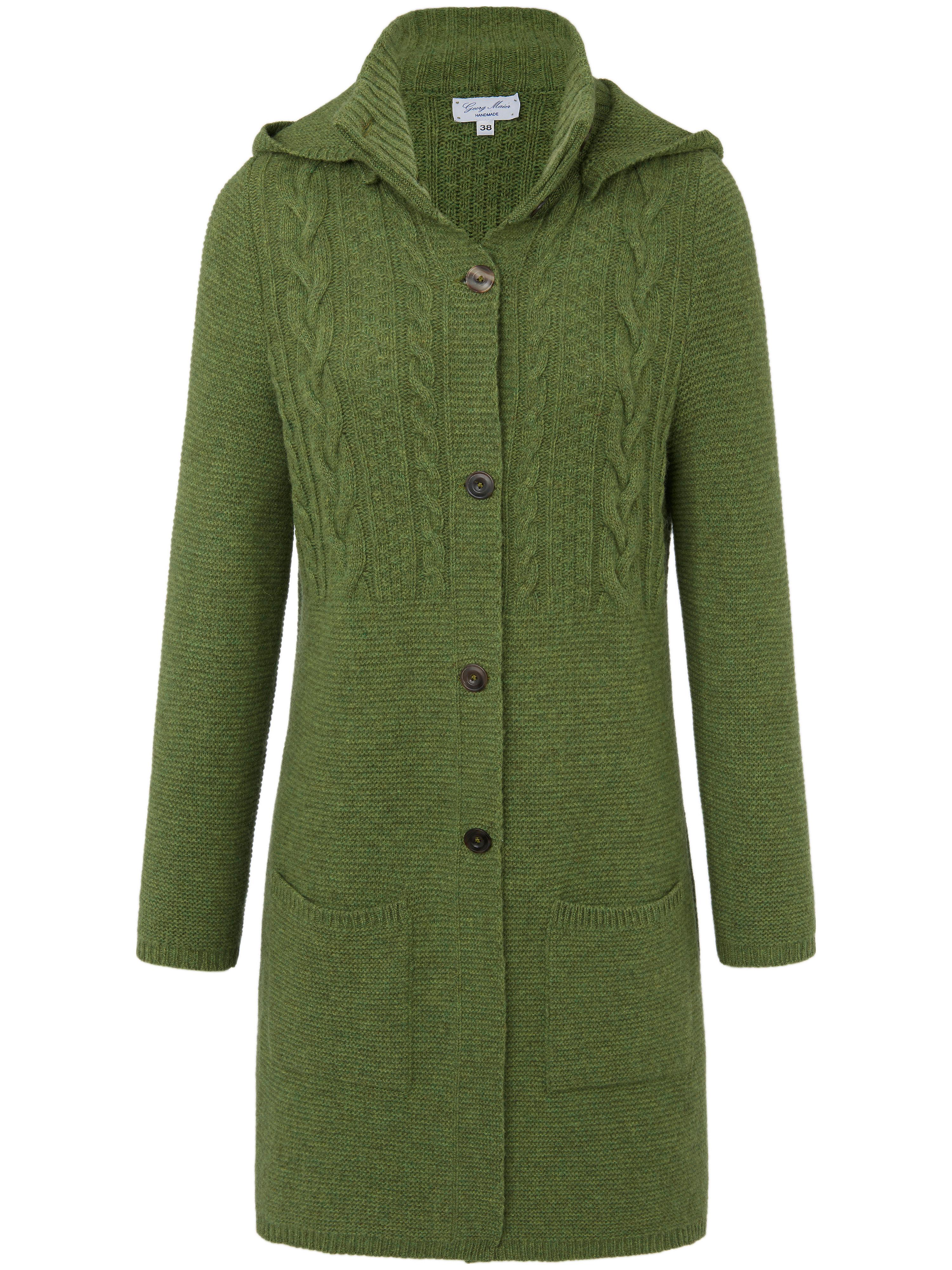 Le manteau maille 100% laine vierge  Georg Maier vert taille 50
