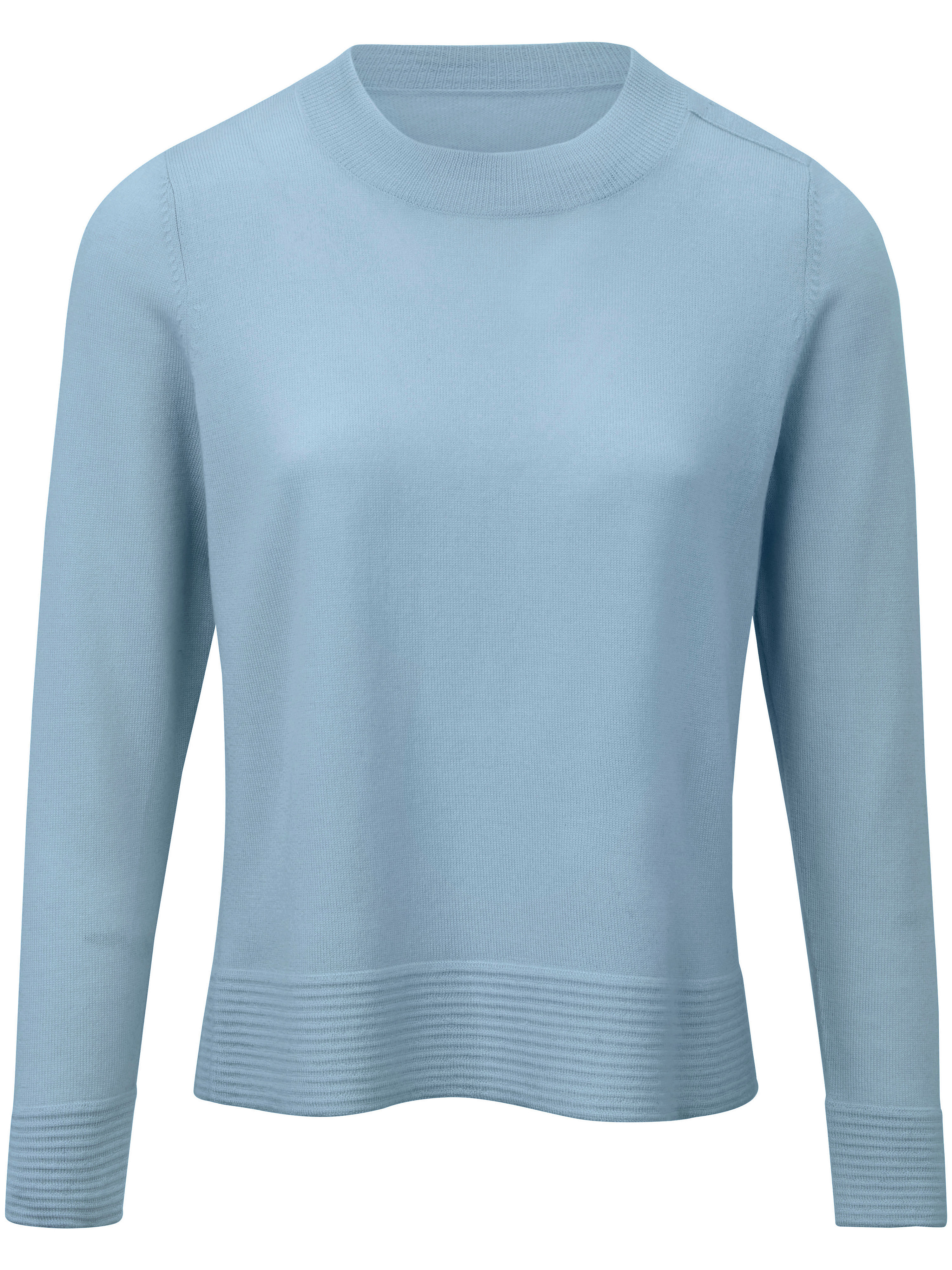 Le pull 100% laine vierge  Peter Hahn bleu taille 44