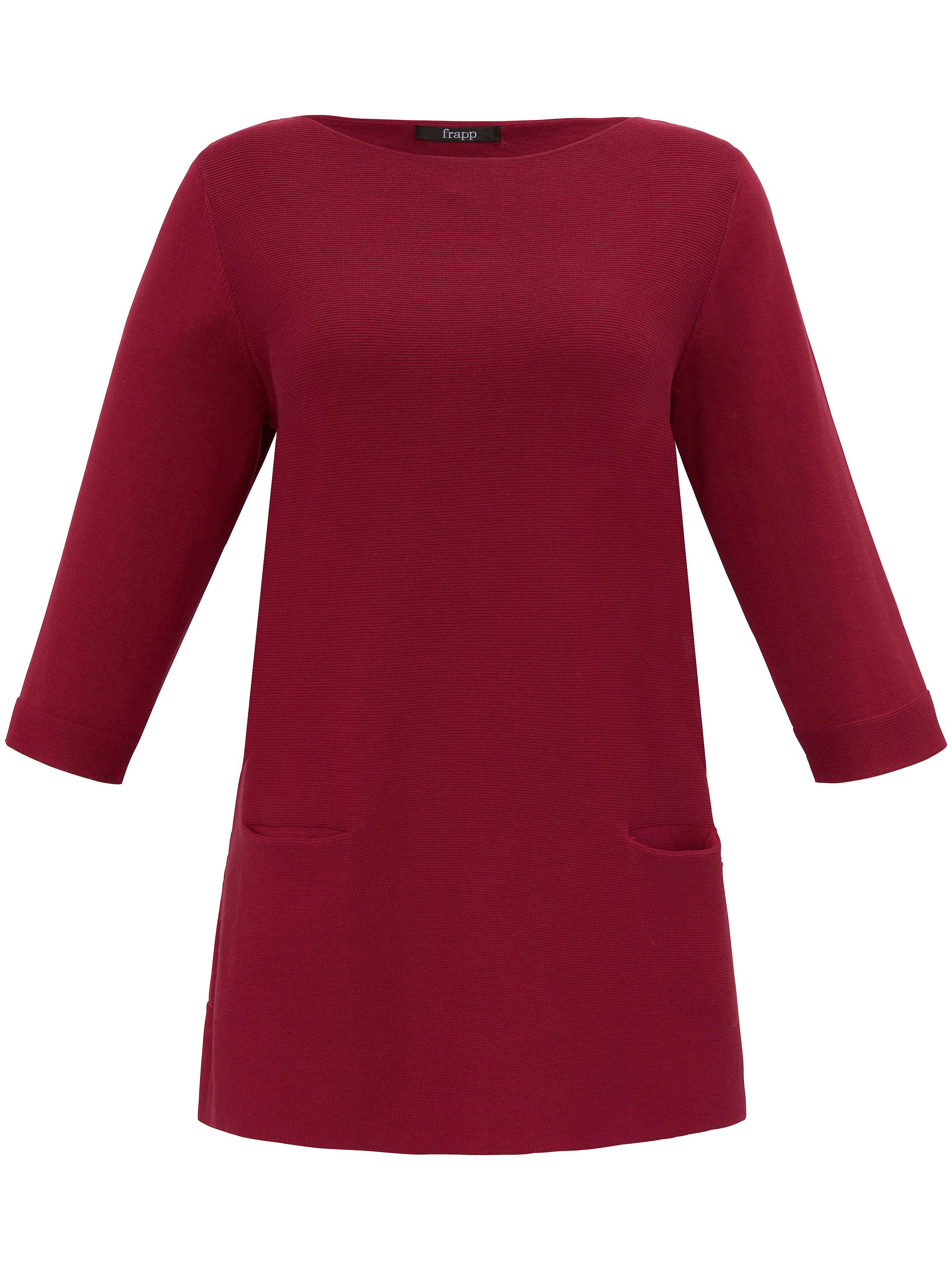 Image of   Bluse rund hals og 3/4-ærmer Fra FRAPP rød