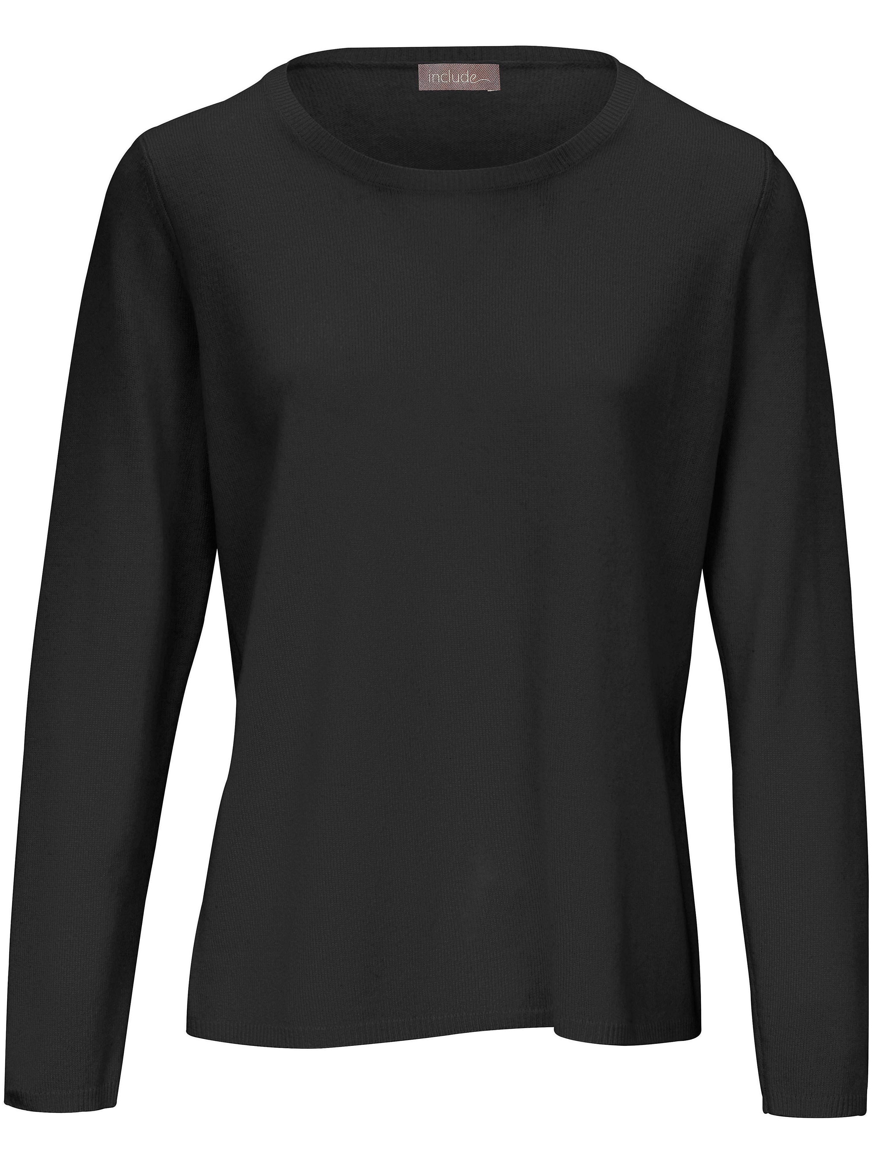Rundhals-Pullover include schwarz | Bekleidung > Pullover > Rundhalspullover | Schurwolle | include