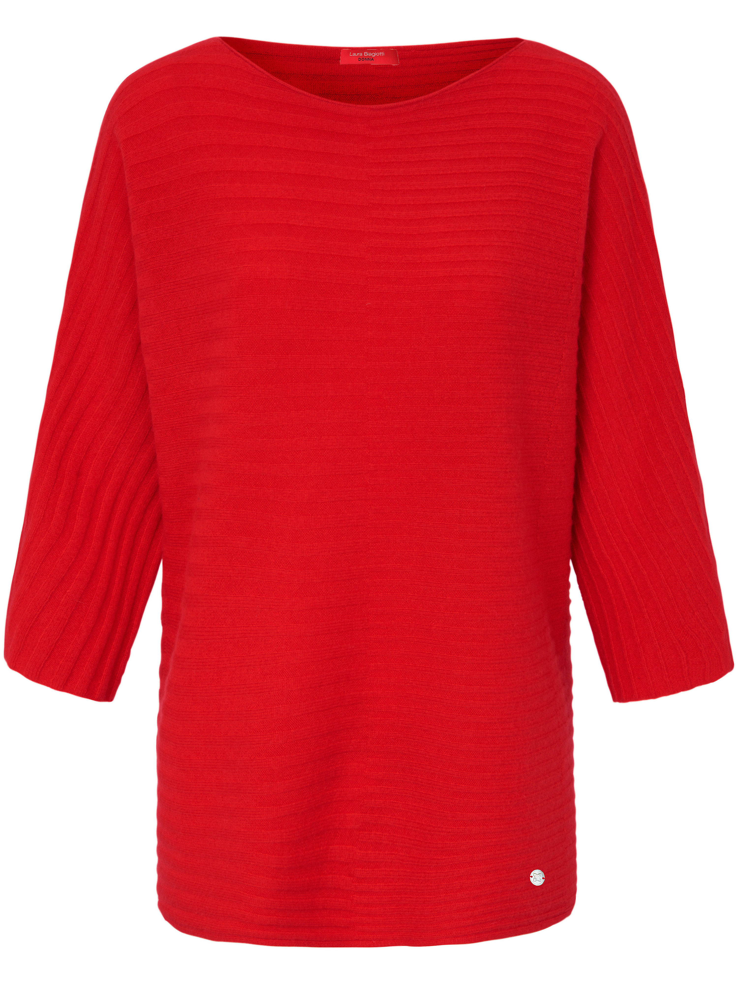 Le pull 100% cachemire manches 3/4  Laura Biagiotti Donna rouge