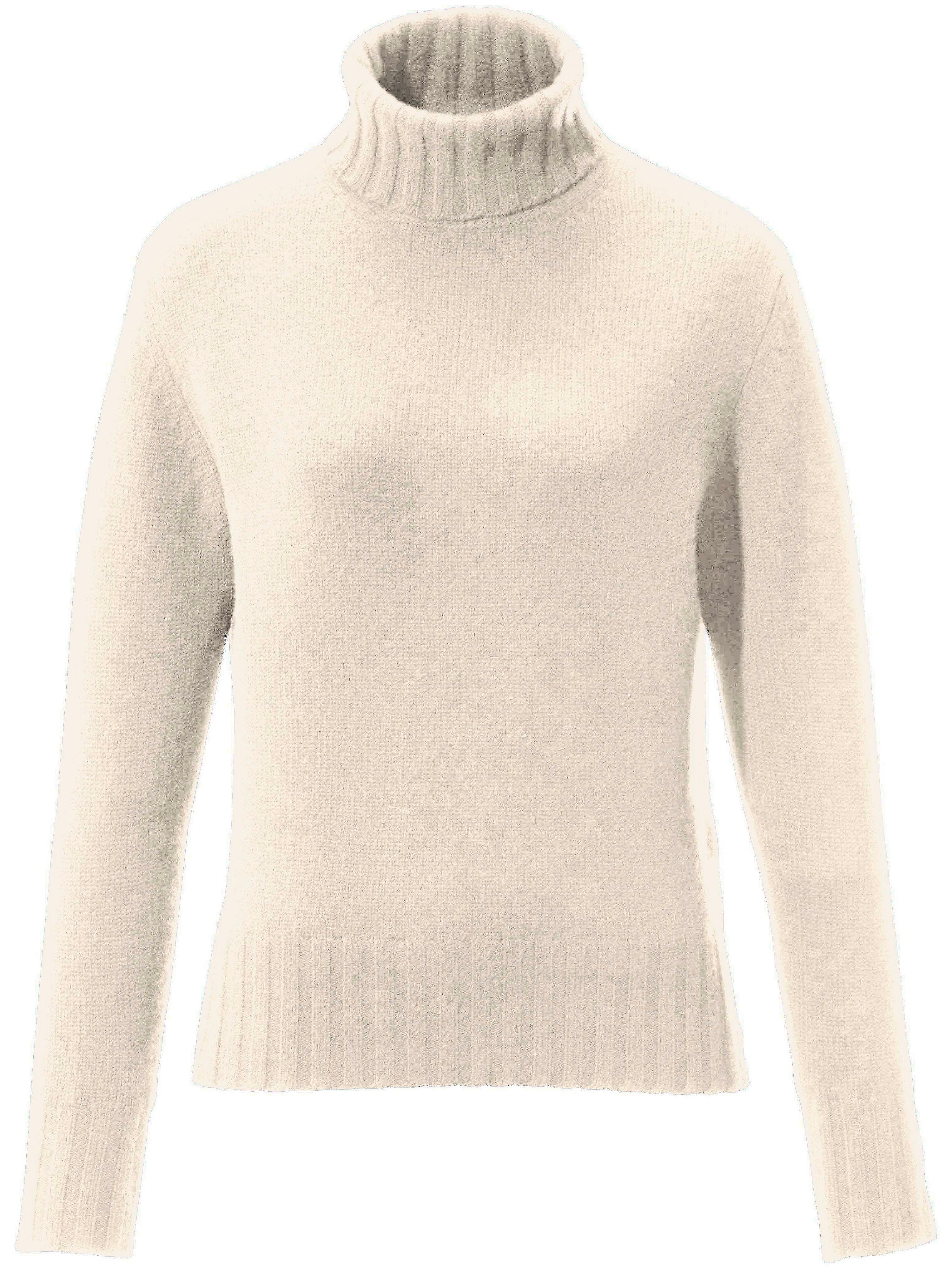 Le pull col roulé 100% cachemire modèle Bernadette  Peter Hahn Cashmere blanc taille 46