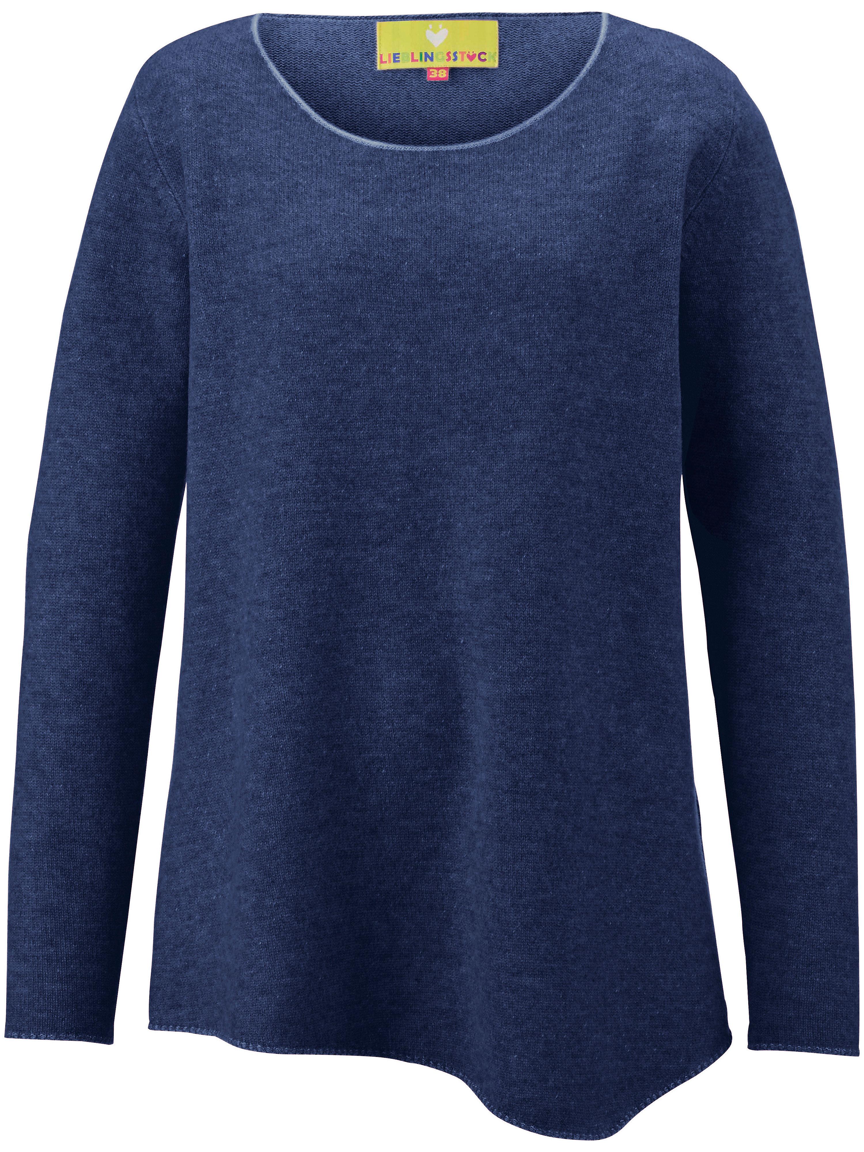 Image of   Strikbluse 100% ren ny uld Fra LIEBLINGSSTÜCK blå