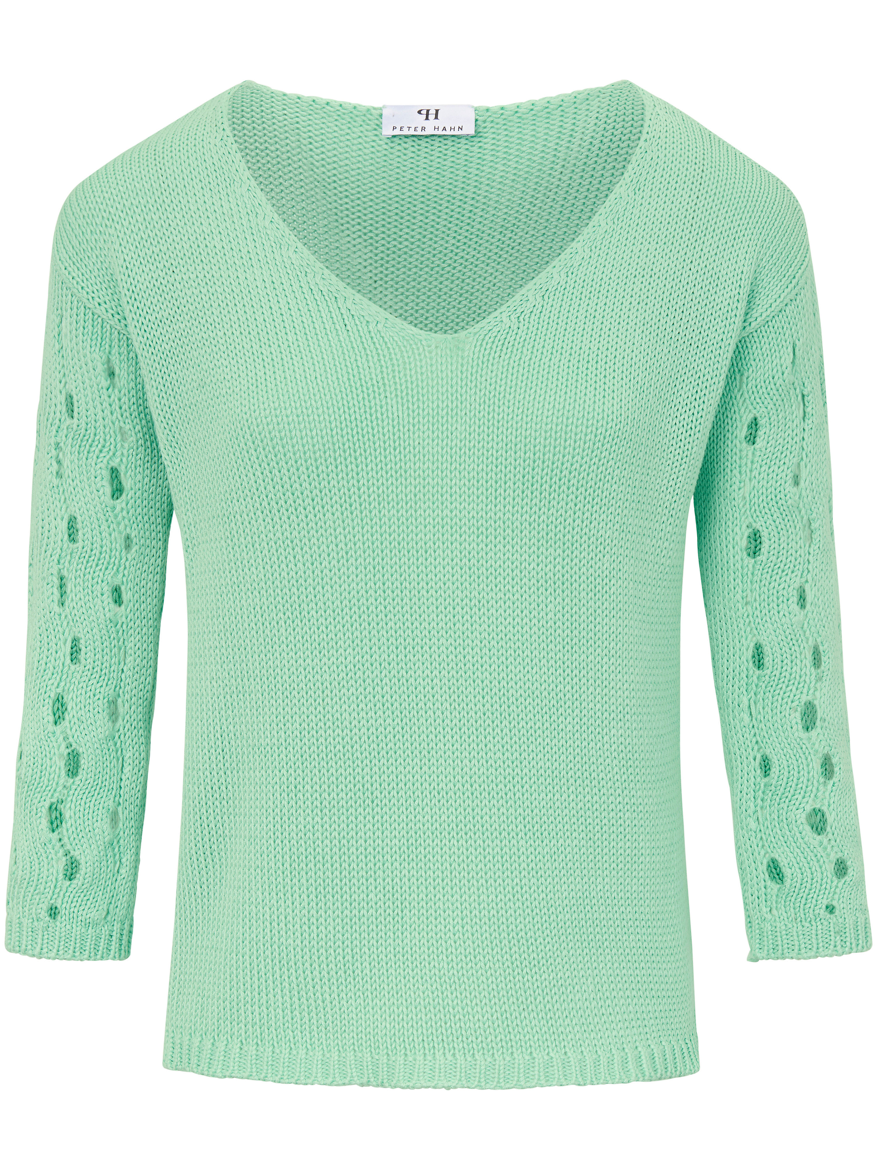 Le pull 100% coton manches 3/4  Peter Hahn vert taille 46