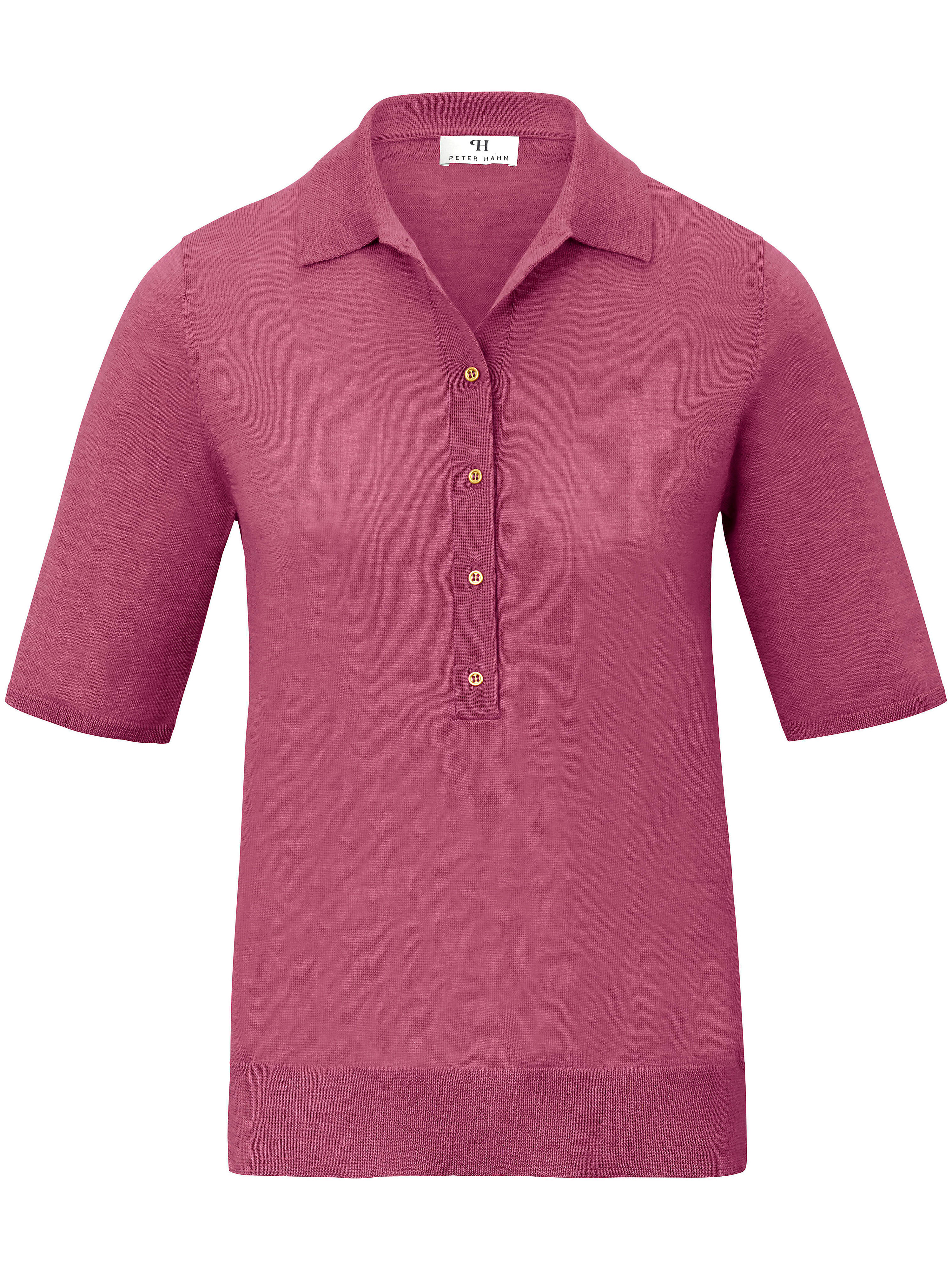 Image of   Polobluse i 100% ren ny uld Fra Peter Hahn rosé