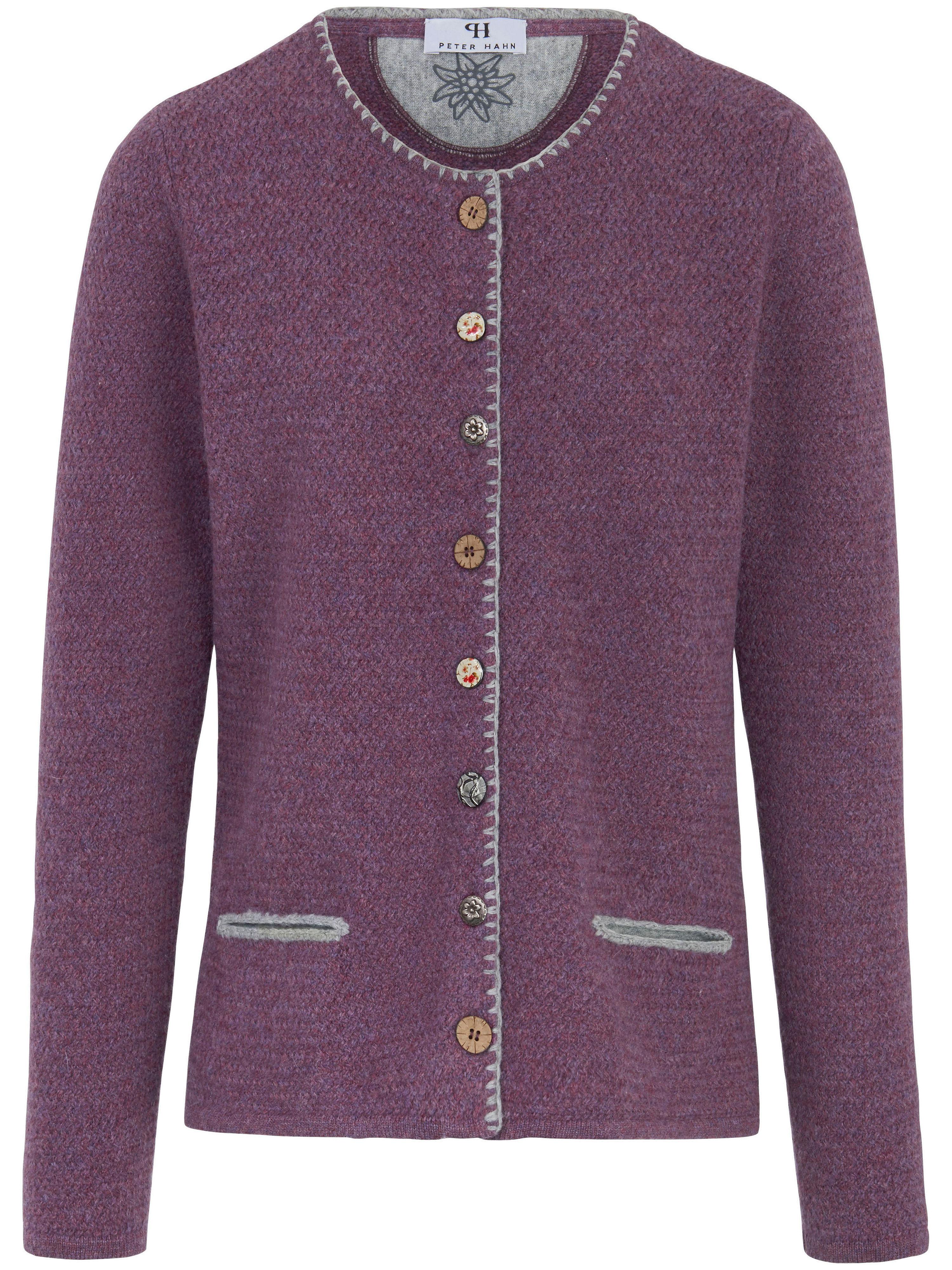 Image of   Cardigan i 100% ren ny uld Fra Peter Hahn lilla