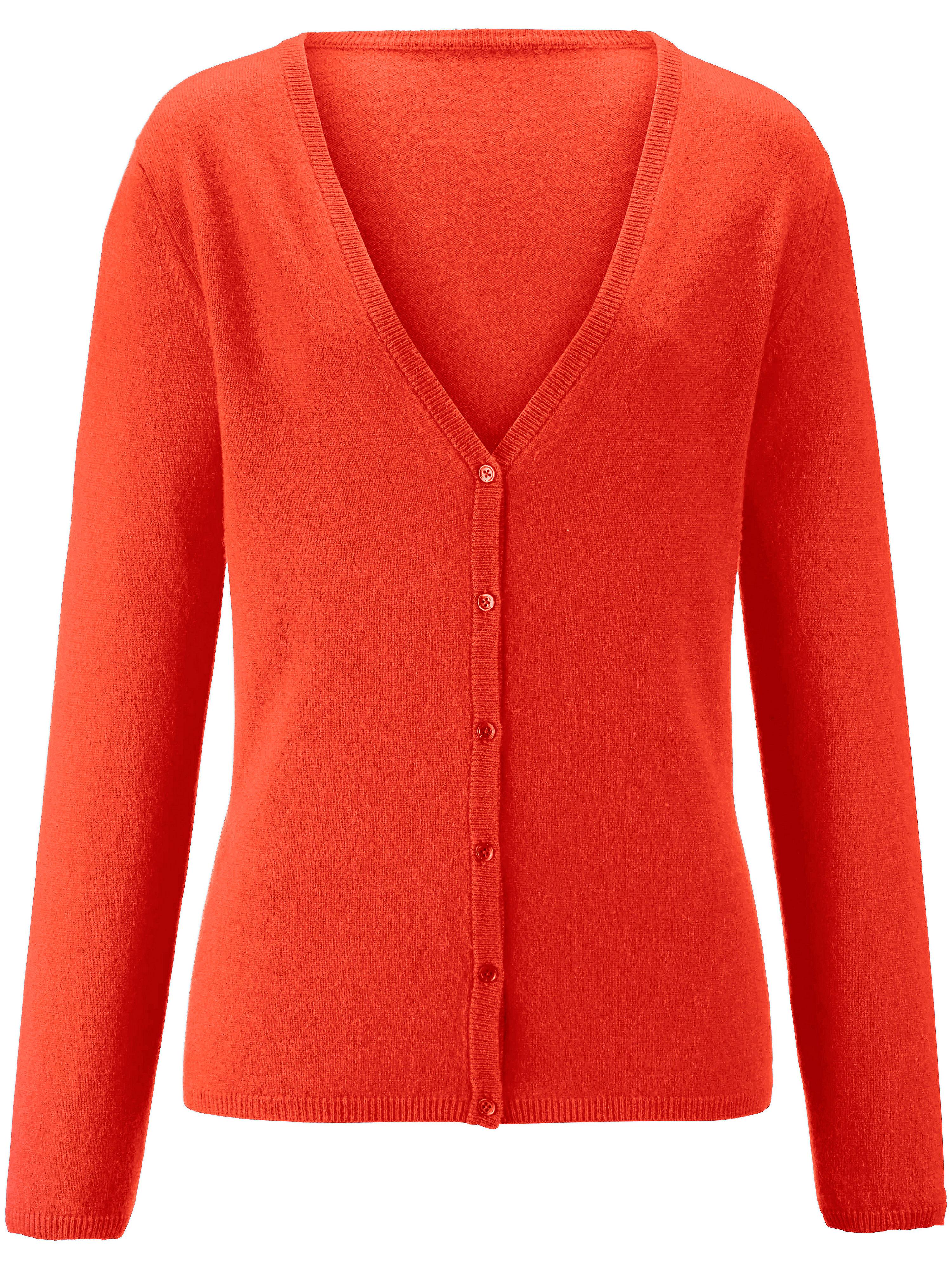 Image of   Cardigan 100% kashmir Fra Peter Hahn Cashmere orange