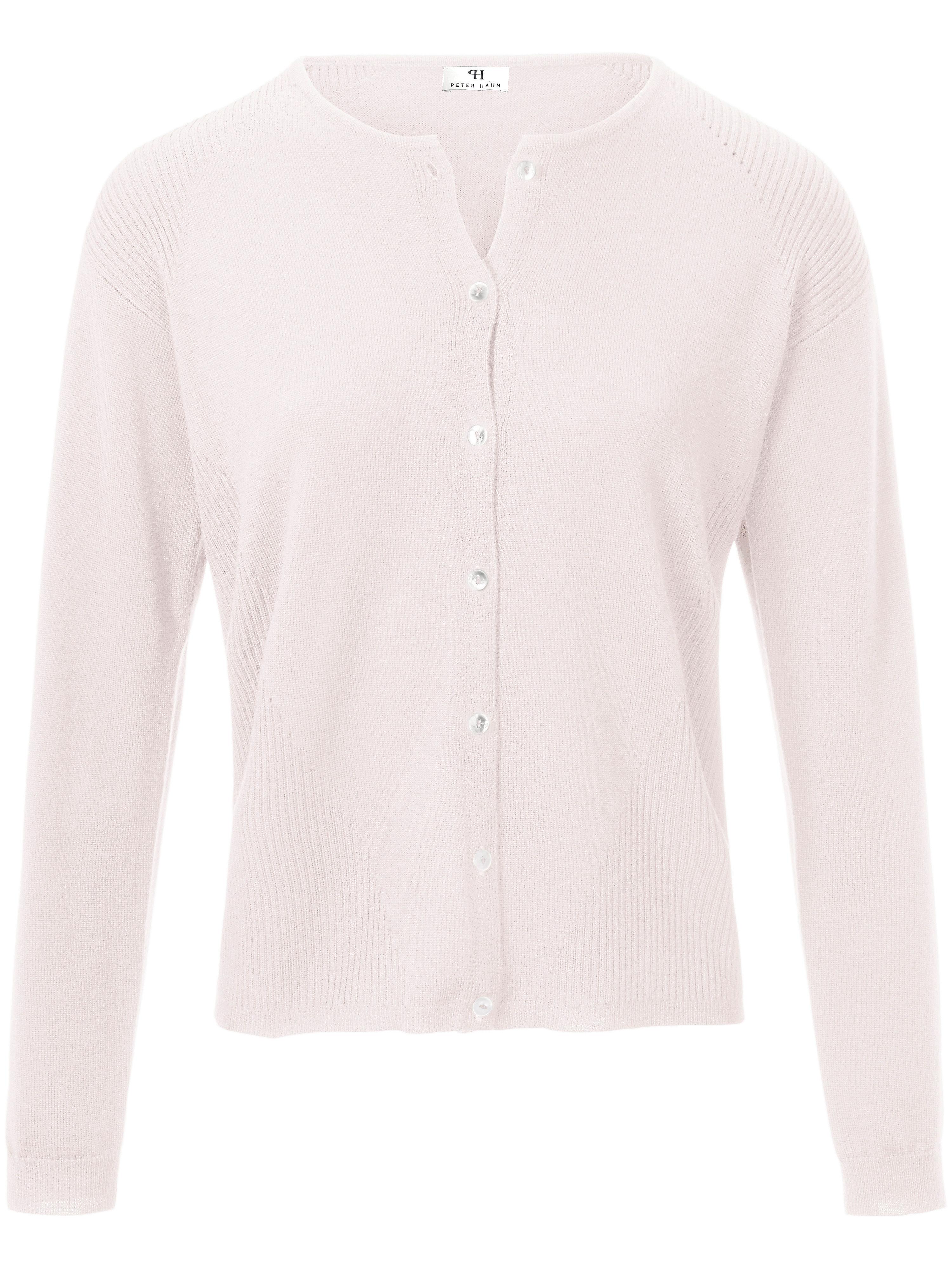 Image of   Cardigan 100% ren ny uld Fra Peter Hahn rosé