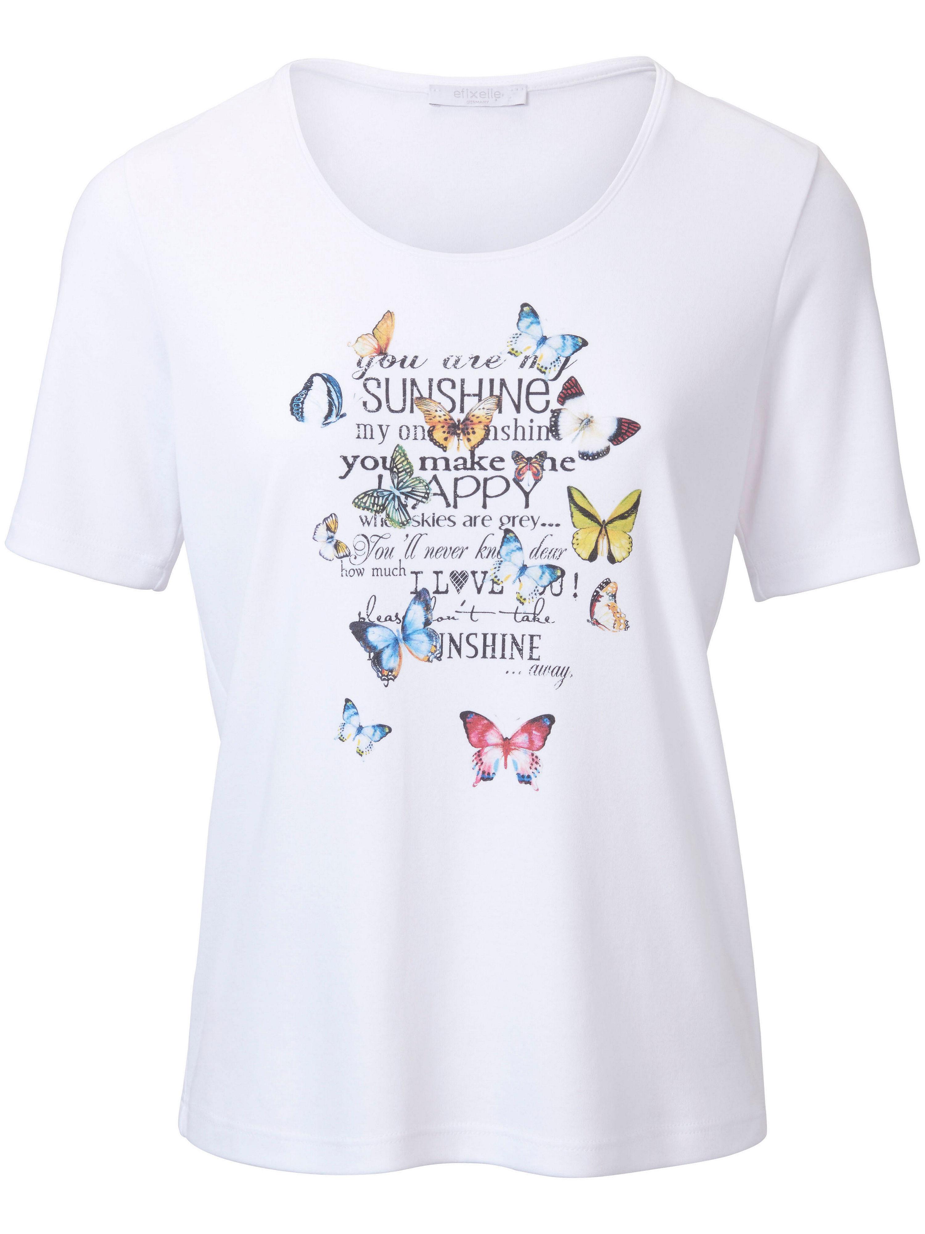 Le T-shirt pur coton, imprimé mode  Efixelle blanc taille 38